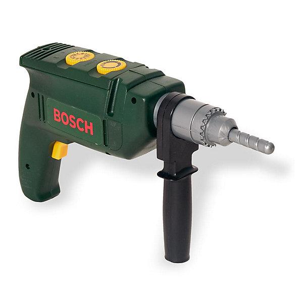 Дрель Bosch, KleinНаборы инструментов<br>Дрель Bosch, Klein (Кляйн) станет настоящим подарком для маленького помощника. Игрушка полностью безопасна для ребенка.<br><br>Особенности:<br>- световые и звуковые эффекты<br>- несколько скоростей вращения<br>- возможность отсоединять и закреплять сверло<br>- закругленный наконечник для обеспечения безопасности<br><br>Дополнительная информация:<br>Высота дрели: 17 см<br>Ширина дрели: 25 см<br>Батарейки: АА - 2 шт. (в комплект не входят)<br>Материал: пластик<br><br>Дрель Bosch, Klein (Кляйн) вы можете купить в нашем интернет-магазине.<br>Ширина мм: 281; Глубина мм: 220; Высота мм: 71; Вес г: 404; Возраст от месяцев: 36; Возраст до месяцев: 96; Пол: Мужской; Возраст: Детский; SKU: 1000109;