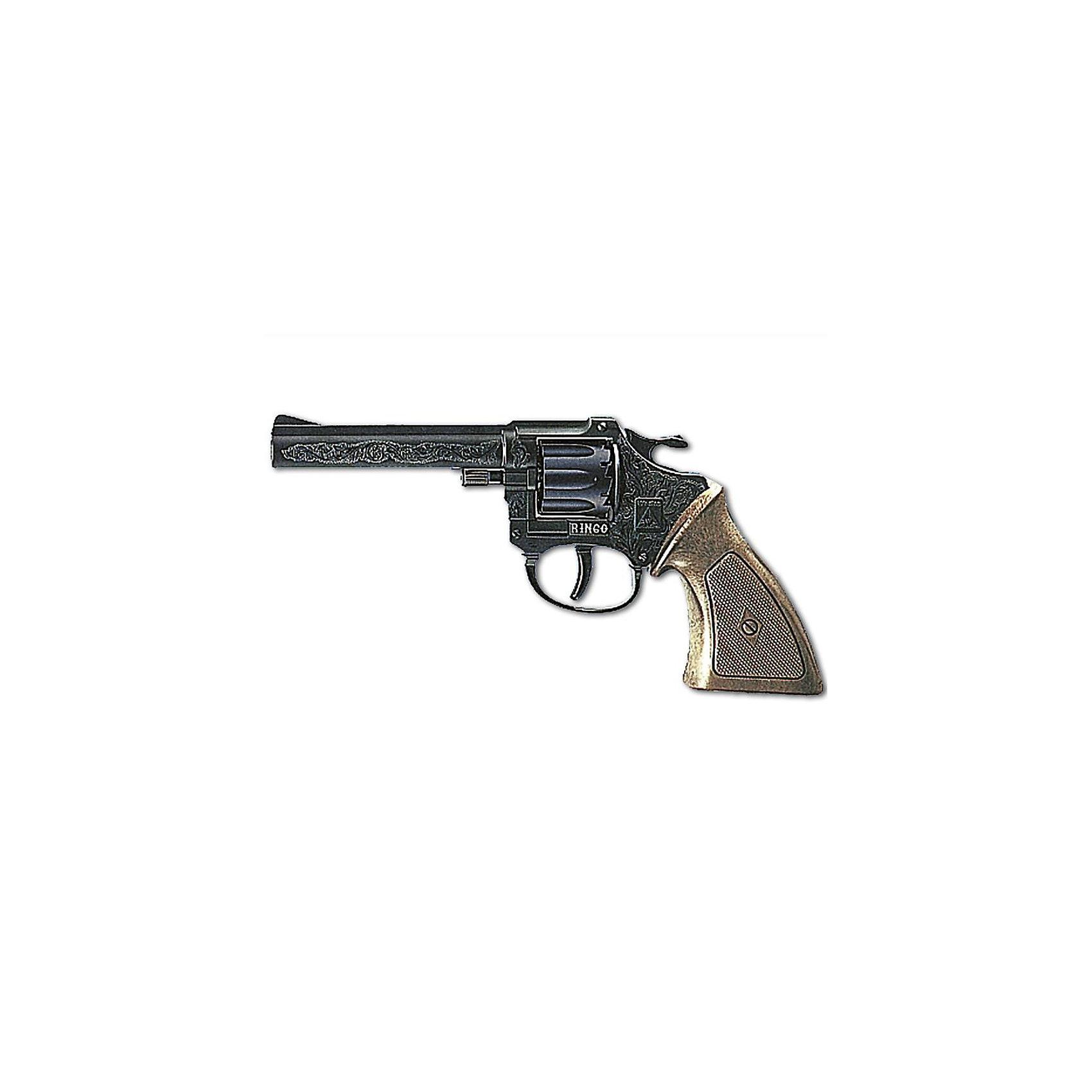 Пистолет Ringo, 8-зарядный,  Sohni-WickeБластеры, пистолеты и прочее<br>Пистолет Ringo, 8-зарядный,  Sohni-Wicke (Сони-Вике) – это отлично детализированный пистолет игрушка.<br>Пистолет Ringo с черным резным дулом — мощное и стильное оружие для настоящих шерифов. Это игрушечное оружие поможет отпугнуть от города вооруженных бандитов и диких индейцев! Игрушечное оружие Sohni-Wicke (Сони-Вике) — это лучшие детские пистонные винтовки и пистолеты для мальчиков. Игрушка сделана из качественного и нетоксичного пластика и не оказывает отрицательного влияния на здоровье ребенка. Используйте игрушку на достаточном расстоянии от лица и ушей. Стрельба из пистонных пистолетов на близком расстоянии к ушам может привести к повреждению слуха. Не стреляйте в помещении.<br><br>Дополнительная информация:<br><br>- Ёмкость магазина: 8 зарядов<br>- Выстрелы: одиночные<br>- Материал: пластик<br>- Размер пистолета: 19,8 см.<br>- Пистоны приобретаются отдельно<br>- Внимание: мелкие детали! Игрушка не подходит для детей младше 3 лет<br>- Заранее внимательно изучите инструкцию по безопасному обращению с игрушкой<br><br>Пистолет Ringo, 8-зарядный,  Sohni-Wicke (Сони-Вике) можно купить в нашем интернет-магазине.<br><br>Ширина мм: 228<br>Глубина мм: 117<br>Высота мм: 32<br>Вес г: 109<br>Возраст от месяцев: 72<br>Возраст до месяцев: 168<br>Пол: Мужской<br>Возраст: Детский<br>SKU: 1024067