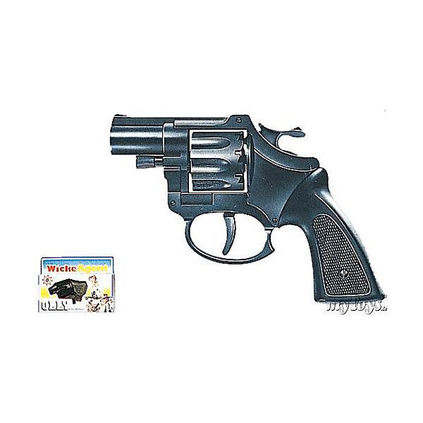 Пистолет Olly, 8-зарядный,  Sohni-WickeИгрушечное оружие<br>Пистолет Olly, 8-зарядный,  Sohni-Wicke (Сони-Вике) – это отлично детализированный пистолет игрушка.<br>Короткоствольный игрушечный револьвер Olly черного цвета — отличное и незаметное оружие для шпионских игр и оперативной работы полицейского. Погони, расследования, решения загадок — неизменные спутники современных мальчишеских игр. Пистолет Olly стреляет пластиковыми пистонами. Игрушечное оружие Sohni-Wicke (Сони-Вике) — это лучшие детские пистонные винтовки и пистолеты для мальчиков. Игрушка сделана из качественного и нетоксичного пластика и не оказывает отрицательного влияния на здоровье ребенка. Используйте игрушку на достаточном расстоянии от лица и ушей. Стрельба из пистонных пистолетов на близком расстоянии к ушам может привести к повреждению слуха. Не стреляйте в помещении.<br><br>Дополнительная информация:<br><br>- Ёмкость магазина: 8 зарядов<br>- Выстрелы: одиночные<br>- Материал: пластик<br>- Размер пистолета: 12,7 см.<br>- Пистоны приобретаются отдельно<br>- Внимание: мелкие детали! Игрушка не подходит для детей младше 3 лет<br>- Заранее внимательно изучите инструкцию по безопасному обращению с игрушкой<br><br>Пистолет Olly, 8-зарядный,  Sohni-Wicke (Сони-Вике) можно купить в нашем интернет-магазине.<br><br>Ширина мм: 30<br>Глубина мм: 110<br>Высота мм: 150<br>Вес г: 92<br>Возраст от месяцев: 60<br>Возраст до месяцев: 108<br>Пол: Мужской<br>Возраст: Детский<br>SKU: 1024068