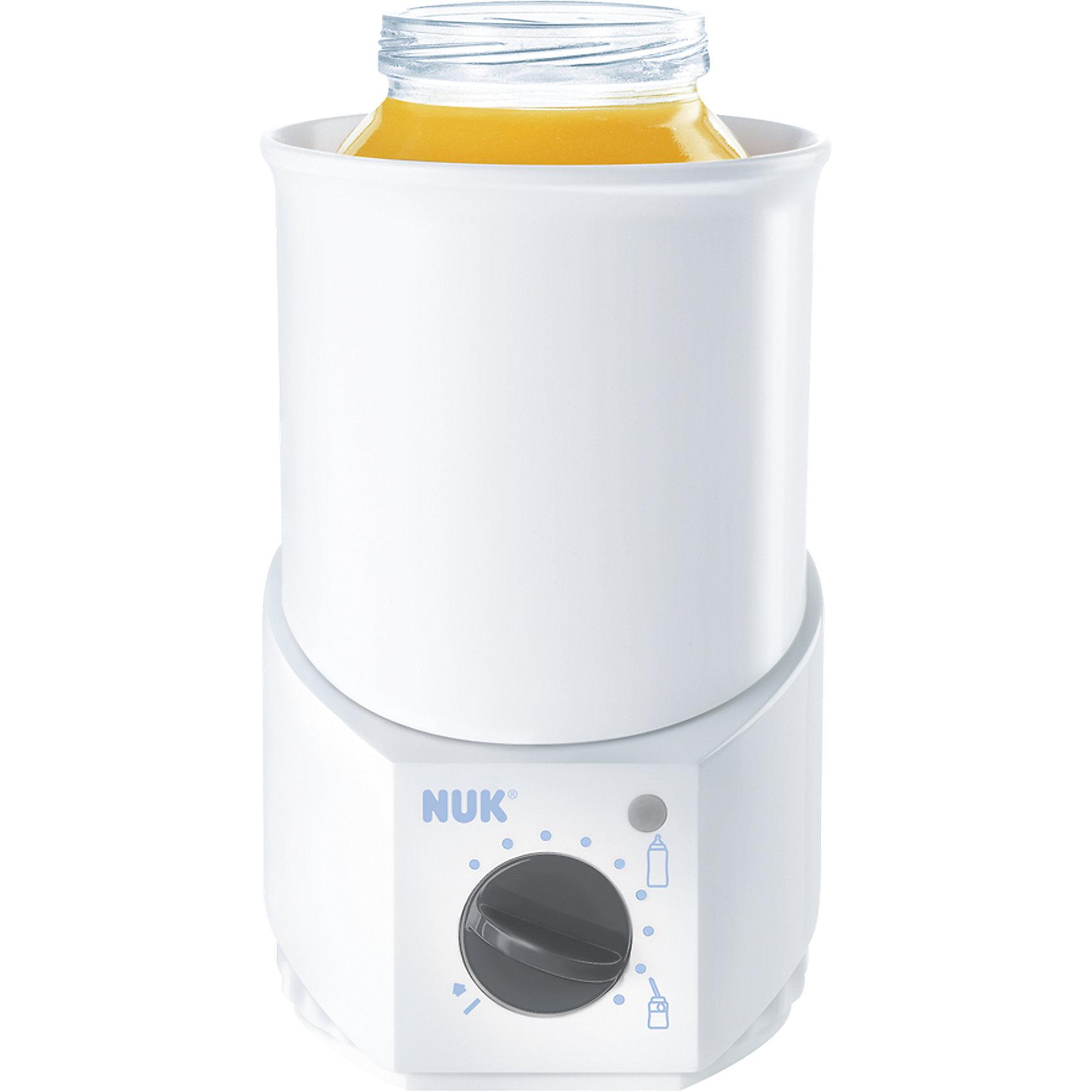 Подогреватель детского питания, NUKПодогреватель детского питания, NUK – в помощь маме и папе.<br>Легко нагревает детское питание до нужной температуры. Абсолютно безопасен в использовании благодаря качественной сборке. Может греть как бутылочки с молочной смесью, так и баночки с едой. После нагревания питания поддерживает температуру длительное время. Благодаря термостату автоматически отключается, если вы забудете о питании. <br><br>Дополнительная информация:<br><br>- производитель: Германия<br>- размер: 9,6х9,6х14,9 см<br>- вес: 0,327<br>- материал: пластик<br><br>Подогреватель детского питания, NUK можно купить в нашем интернет магазине.<br><br>Ширина мм: 99<br>Глубина мм: 101<br>Высота мм: 152<br>Вес г: 297<br>Возраст от месяцев: 0<br>Возраст до месяцев: 36<br>Пол: Унисекс<br>Возраст: Детский<br>SKU: 1032546