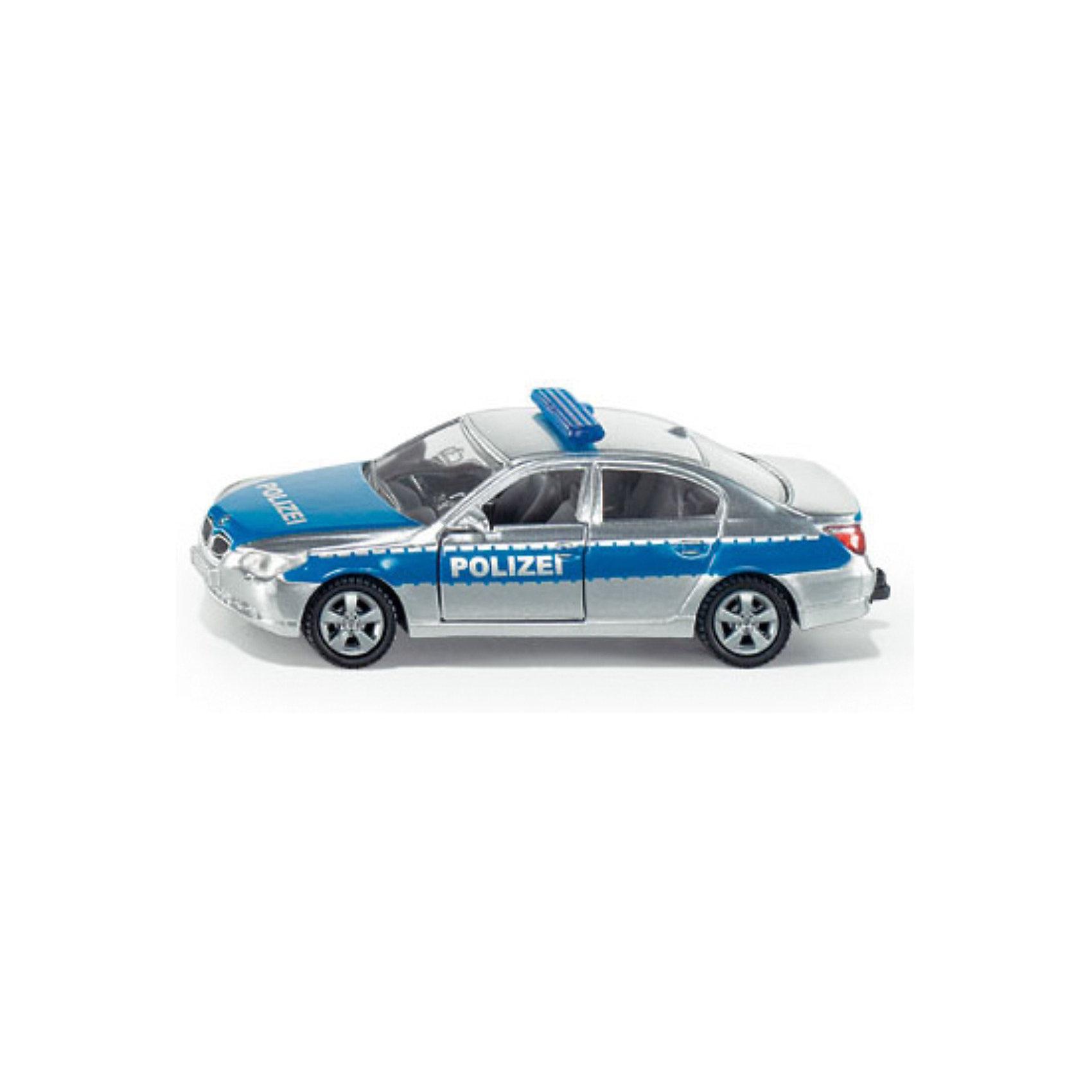 SIKU 1352 Полицейская патрульная машинаМашинки<br>SIKU (СИКУ) 1352 Полицейская патрульная машина несомненно вызовет у ребенка радостные чувства, ведь она очень реалистичная.<br><br>Корпус выполнен из металла, передние двери открываются, лобовое, заднее и боковые стёкла из прозрачной пластмассы, колёса выполнены из резины и вращаются, можно катать. Сзади есть сцепное устройство, можно использовать с прицепом SIKU (СИКУ) соответствующего масштаба. <br><br>Дополнительная информация:<br>-Материал: металл с элементами пластмассы<br>-Размер игрушки: 8,1 x 3,6 x 2,9 см<br>-Масштаб 1:55<br><br>Порадуйте вашего малыша современной и стильной игрушкой. С коллекцией моделей от SIKU (СИКУ) вы сможете создать собственный уникальный автопарк.<br><br>SIKU (СИКУ) 1352 Полицейскую патрульную машину можно купить в нашем магазине.<br><br>Ширина мм: 95<br>Глубина мм: 78<br>Высота мм: 35<br>Вес г: 63<br>Возраст от месяцев: 36<br>Возраст до месяцев: 96<br>Пол: Мужской<br>Возраст: Детский<br>SKU: 1036561