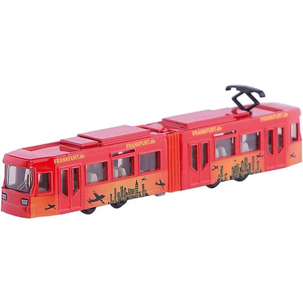 SIKU 1615 ТрамвайМашинки<br>Трамвай, Siku, станет прекрасным пополнением коллекции юного любителя техники. Модель очень похожа на настоящий городской трамвай, отличается высокой степенью детализации и тщательной проработкой всех элементов. Трамвай состоит из двух частей соединенных в середине гармошкой, через прозрачные пластиковые окна хорошо просматривается салон с пассажирскими сиденьями, колеса вращаются. Корпус и колесные оси модели выполнены из металла, остальные детали изготовлены из ударопрочной пластмассы. <br><br>Дополнительная информация:<br><br>- Материал: металл, пластик.<br>- Масштаб: 1:55.<br>- Размер трамвая: 16 x 2,4 x 3 см.<br>- Размер упаковки: 20 x 8 x 3 см.<br>- Вес: 125 гр. <br><br>1615 Трамвай, Siku, можно купить в нашем интернет-магазине.<br><br>Ширина мм: 197<br>Глубина мм: 76<br>Высота мм: 25<br>Вес г: 124<br>Возраст от месяцев: 36<br>Возраст до месяцев: 96<br>Пол: Мужской<br>Возраст: Детский<br>SKU: 1036969