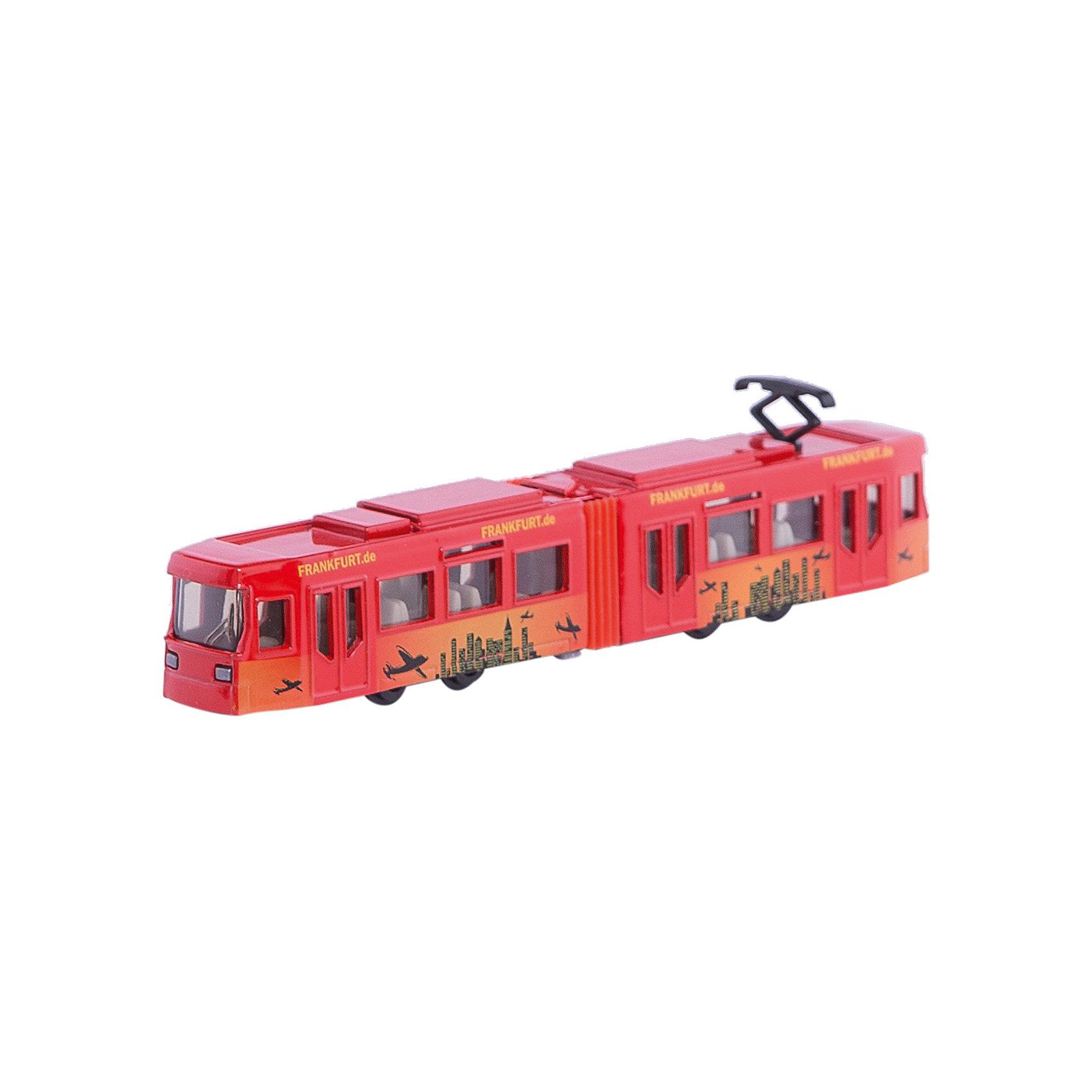 SIKU 1615 ТрамвайТрамвай, Siku, станет прекрасным пополнением коллекции юного любителя техники. Модель очень похожа на настоящий городской трамвай, отличается высокой степенью детализации и тщательной проработкой всех элементов. Трамвай состоит из двух частей соединенных в середине гармошкой, через прозрачные пластиковые окна хорошо просматривается салон с пассажирскими сиденьями, колеса вращаются. Корпус и колесные оси модели выполнены из металла, остальные детали изготовлены из ударопрочной пластмассы. <br><br>Дополнительная информация:<br><br>- Материал: металл, пластик.<br>- Масштаб: 1:55.<br>- Размер трамвая: 16 x 2,4 x 3 см.<br>- Размер упаковки: 20 x 8 x 3 см.<br>- Вес: 125 гр. <br><br>1615 Трамвай, Siku, можно купить в нашем интернет-магазине.<br><br>Ширина мм: 195<br>Глубина мм: 83<br>Высота мм: 32<br>Вес г: 128<br>Возраст от месяцев: 36<br>Возраст до месяцев: 96<br>Пол: Мужской<br>Возраст: Детский<br>SKU: 1036969