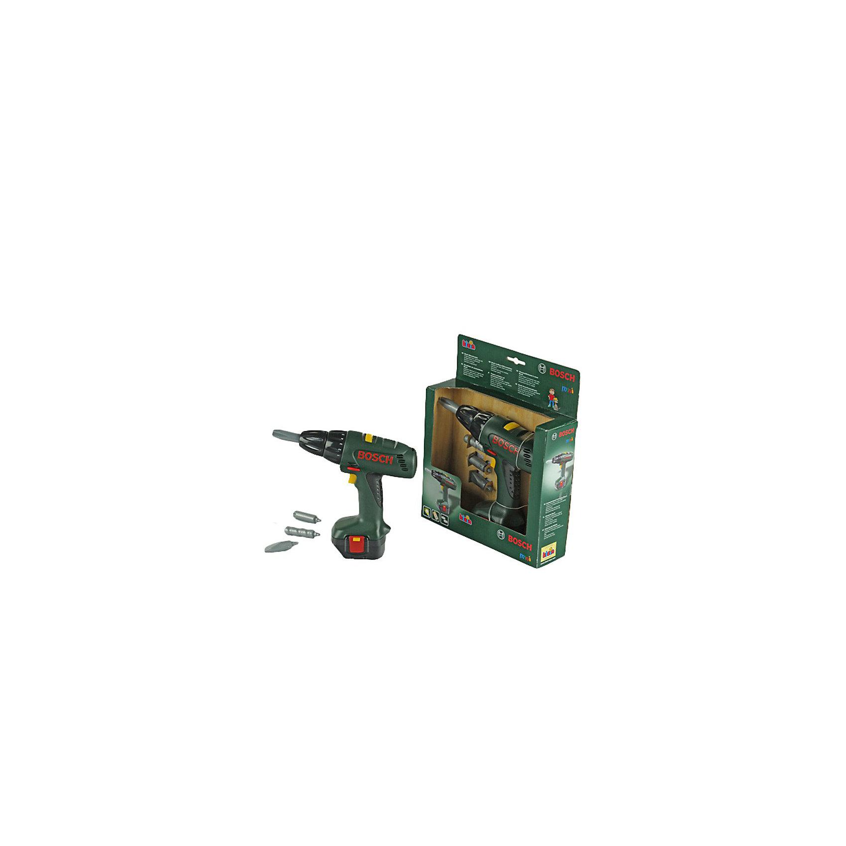 Игрушечный шуроповерт Bosch с насадками, Klein