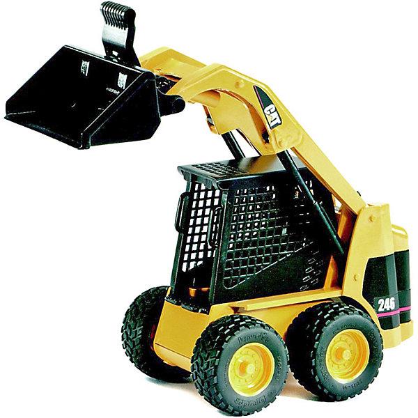 Мини Погрузчик колёсный CAT с ковшомМашинки<br>Мини Погрузчик колёсный CAT с ковшом от Bruder (Брудер) - уменьшенная копия настоящей техники, выполненная в масштабе 1:16!<br><br>Этот тип погрузчика увидеть почти на любой стройке. Благодаря его отличной маневренности в узких местах он стал незаменимым помощником на стройке или в садоводческом хозяйстве. Погрузчик предлагает множество возможностей для игры. В игровой форме дети познают окружающий мир.  <br><br>Особенности модели:<br><br>- работоспособная стрела<br>- наклоняемый съемный передний ковш<br>- профильные шины.<br><br>Дополнительная информация:<br><br>- произведен из высококачественного<br>+ масштаб 1:16<br>+ размеры: длина 23см x ширина 10,5см x высота 13см<br>+ сочетается с аксессуарами категорий C, G<br><br>Мини Погрузчик колёсный CAT с ковшом от Брудер можно купить в нашем магазине.<br>Ширина мм: 296; Глубина мм: 205; Высота мм: 124; Вес г: 468; Возраст от месяцев: 36; Возраст до месяцев: 96; Пол: Мужской; Возраст: Детский; SKU: 1220852;