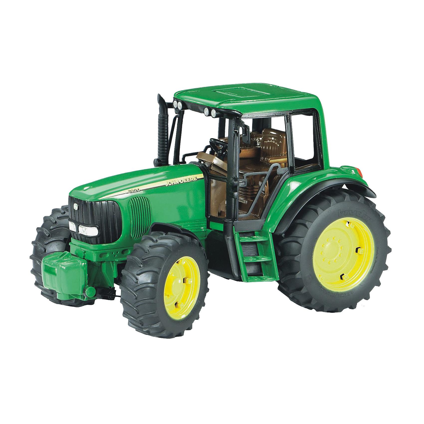 Bruder Трактор John Deere, Bruder машинки tomy трактор john deere 6830 с двойными колесами и фронтальным погрузчиком