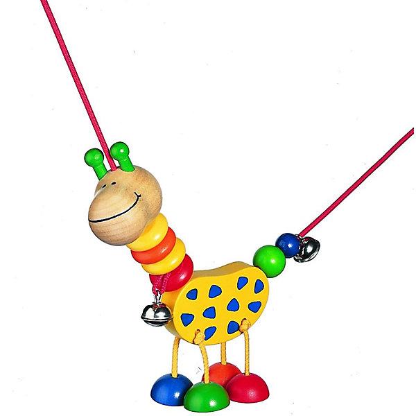 Selecta Подвеска КоллинаИгрушки для новорожденных<br>Эта подвеска от компании Selecta – лучший друг для самых маленьких. При каждом движении жираф весело болтает ножками над кроваткой, колыбелькой или коляской. Жирафа можно двигать по всему шнуру. Яркие цвета и формы, а также звон колокольчиков естественным путем побуждают малышка к получению визуальных, тактильных и сенсорных впечатлений.     <br>      <br>    <br>    Дополнительные характеристики:  <br>      <br>    <br>    + Материал: клен <br>      <br>    <br>    + Размер: ок. 18 см  <br>      <br>    <br>    + Шнурок растягивается до 75 см  <br>      <br>    <br>    + Для крепления требуются 2 универсальных зажима, например, Фиксино, которые продаются отдельно  <br>      <br>    <br>    + Безопасность проверена Объединением технического надзора (T?V)    <br>      <br>    <br>    Структура дерева пробуждает фантазию и передает самые разные впечатления, обращаясь к разным органам чувств. Данный артикул дополнительно обработан пчелиным воском, что делает его поверхность гладкой и мягкой. Естественный аромат способствует развитию чувств и ощущений у детей.<br>Ширина мм: 197; Глубина мм: 104; Высота мм: 51; Вес г: 115; Возраст от месяцев: 0; Возраст до месяцев: 12; Пол: Унисекс; Возраст: Детский; SKU: 1400390;