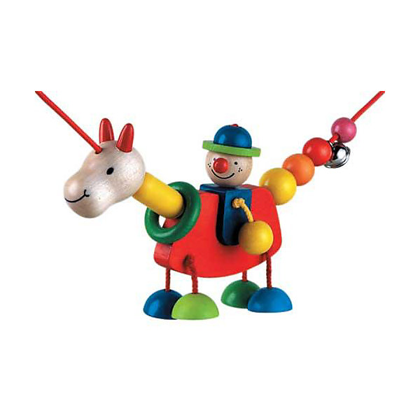 Selecta Подвеская ТрапиноИгрушки для новорожденных<br>Очень милая подвеска на коляску от компании Selecta!  Веселые спутники для всех поездок малыша: наездник и его верный конь. Подвеска щедро оснащена шариками и звенящими колокольчиками. Многообразие функций подвески будет развлекать малыша в первые месяцы жизни: смотреть, хватать, тянуть – его ожидает много открытий.     <br>      <br>    <br>    Дополнительная информация:  <br>      <br>    <br>    + Особенно практично: возможность крепления по диагонали благодаря подвижной игрушке  <br>      <br>    <br>    + Материал: дерево  <br>      <br>    <br>    + Размер: 20 см   <br>      <br>    <br>    + Шнурок растягивается до 75 см  <br>      <br>    <br>    + для крепления требуется 2 универсальных зажима, например, Фиксино, продающихся отдельно.  <br>      <br>    <br>    + Безопасность проверена Объединением технического надзора (T?V)    <br>      <br>    <br>    Структура дерева пробуждает фантазию и передает самые разные впечатления, обращаясь к разным органам чувств. Данный артикул дополнительно обработан пчелиным воском, что делает его поверхность гладкой и мягкой. Естественный аромат способствует развитию чувств и ощущений у детей.<br><br>Ширина мм: 196<br>Глубина мм: 100<br>Высота мм: 53<br>Вес г: 116<br>Возраст от месяцев: 0<br>Возраст до месяцев: 12<br>Пол: Унисекс<br>Возраст: Детский<br>SKU: 1407246
