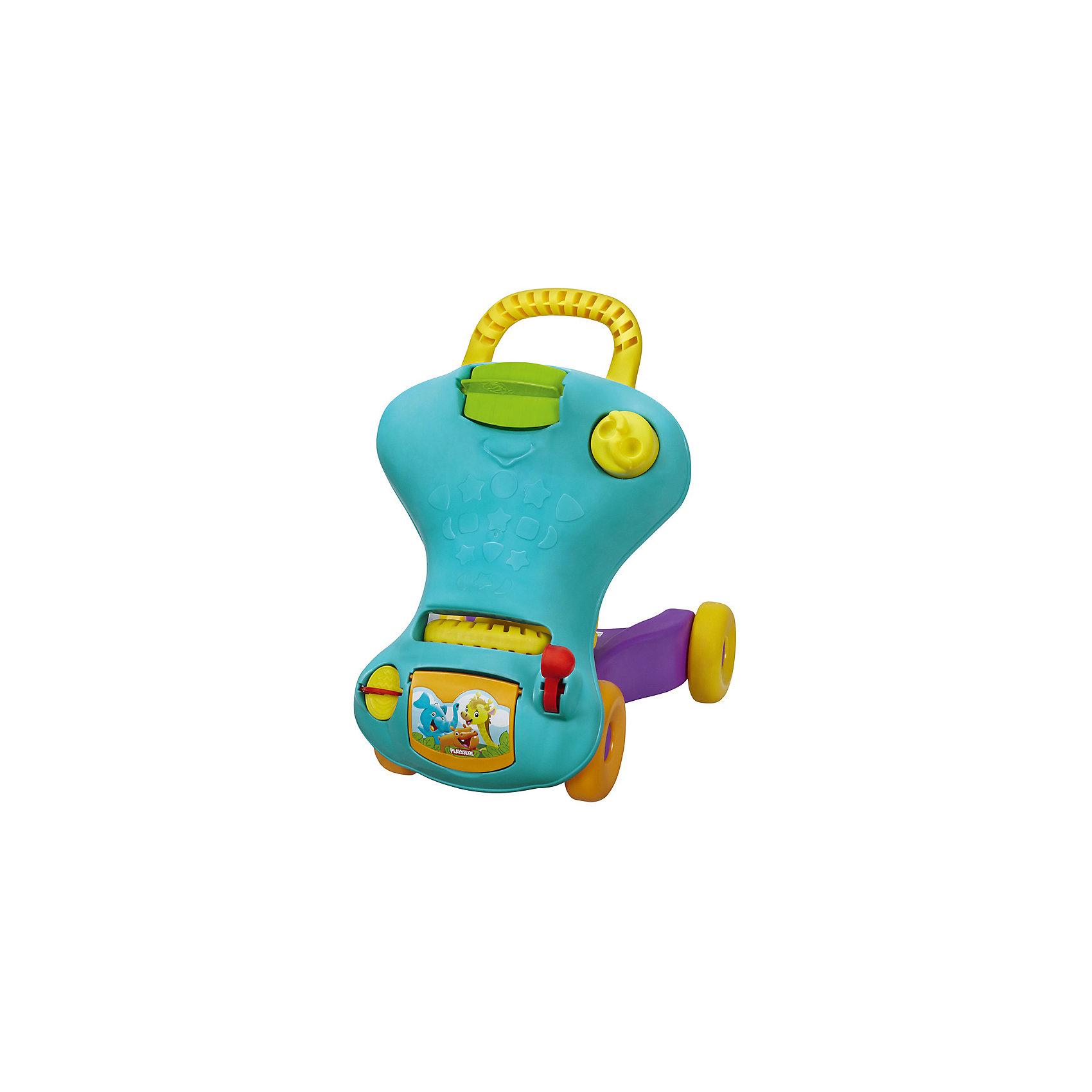 Ходунок-каталка 2 в 1 PLAYSKOOL, синийМашинки-каталки<br>Ходунок-каталка 2 в 1 PLAYSKOOL (Плайскул) в ассортименте, станет отличным подарком для Вашего малыша. Этот ходунок-каталка подходит как для малышей, делающих свои первые шаги, так и для детишек постарше: игрушка может трансформироваться из ходунка-каталки в чудесную машинку для езды! Эта игрушка будет расти вместе с Вашей крохой!<br><br>Когда малыши учатся ходить, им необходима опора, за которую они могут держаться. Яркие ходунки помогут малышу как можно скорее начать ходить самостоятельно. Когда малыш подрастёт, ходунки можно превратить в машинку, на которой малыш будет кататься, отталкиваясь от пола ногами. <br><br>Ходунок-каталка имеет множество увлекательных встроенных игрушек: <br>- маленький цветной барабанчик, который крутится и издает забавные звуки; <br>- яркий кружочек-трещотка, оборудованный рычажками, чтобы даже самым маленьким пальчикам было удобно его вращать; <br>- крутилка-мельница с напечатанными на ней фигурками; <br>- фигурки на сиденье машинки; <br>- удобный и вместительный бардачок; <br>- забавный рычажок, с помощью которого ребенок будет передвигать игрушку.<br><br>Яркие детали и разнообразие их форм заинтересуют Вашу кроху, будут способствовать развитию цветовосприятия и мелкой моторики рук.<br><br>Этот яркий ходунок-каталка доставит массу удовольствия Вашему малышу и превратит нелёгкий процесс обучения в увлекательное занятие!<br><br><br>Дополнительная информация:  <br><br>- Размер каталки: 43 х 20,1 х 34,4 см<br>- Высота ходунков: 41 см<br>- Вес: 2,5 кг<br>- Материал: мягкий пластик<br>- Максимальная нагрузка: 19 кг.<br>-Цвета: синий<br><br>Ходунок-каталку 2 в 1 PLAYSKOOL можно купить в нашем интернет-магазине.<br><br>Ширина мм: 203<br>Глубина мм: 432<br>Высота мм: 356<br>Вес г: 2500<br>Возраст от месяцев: 9<br>Возраст до месяцев: 36<br>Пол: Унисекс<br>Возраст: Детский<br>SKU: 1430136