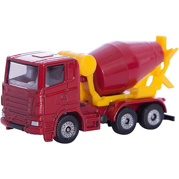 SIKU 0813 БетономешалкаМашинки<br>SIKU 0813 Бетономешалка - это крупногабаритная машина из специализированной строительной техники от СИКУ. <br><br>Кабина выполнена из прочного металла, а яркая красная бетономешалка  – из качественной пластмассы, безопасной для детей, ее можно также вращать для «перемешивания бетона».  У машины вращаются колеса, что позволит катать ее.<br><br>Дополнительная информация:<br>-Материал: металл с элементами пластмассы<br>-Размер игрушки: 7,5 x 2,9 x 4,0 см<br><br>Игрушечная модель бетономешалка создана для маленького строителя, позволит вашему ребенку пополнить свою коллекцию копий автомобилей.<br><br>SIKU 0813 Бетономешалку можно купить в нашем магазине.<br>Ширина мм: 78; Глубина мм: 97; Высота мм: 38; Вес г: 50; Возраст от месяцев: 36; Возраст до месяцев: 96; Пол: Мужской; Возраст: Детский; SKU: 1439827;