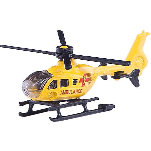 SIKU 0856 Спасательный вертолетСамолёты и вертолёты<br>SIKU (СИКУ) 0856 Спасательный вертолет быстро прибудет туда, где нужна помощь.<br><br>Корпус выполнен из металла, лобовое стекло и боковые стёкла из прозрачного пластика, винт вращается.<br><br>Дополнительная информация:<br>-Материал: металл с элементами пластмассы<br>-Размер игрушки: 8,1 x 6,7 x 3,1 см<br><br>Спасательный вертолет прекрасно подойдет для ребят, увлекающихся техникой.<br><br>SIKU (СИКУ) 0856 Спасательный вертолет можно купить в нашем магазине.<br><br>Ширина мм: 95<br>Глубина мм: 81<br>Высота мм: 17<br>Вес г: 32<br>Возраст от месяцев: 36<br>Возраст до месяцев: 96<br>Пол: Мужской<br>Возраст: Детский<br>SKU: 1439831