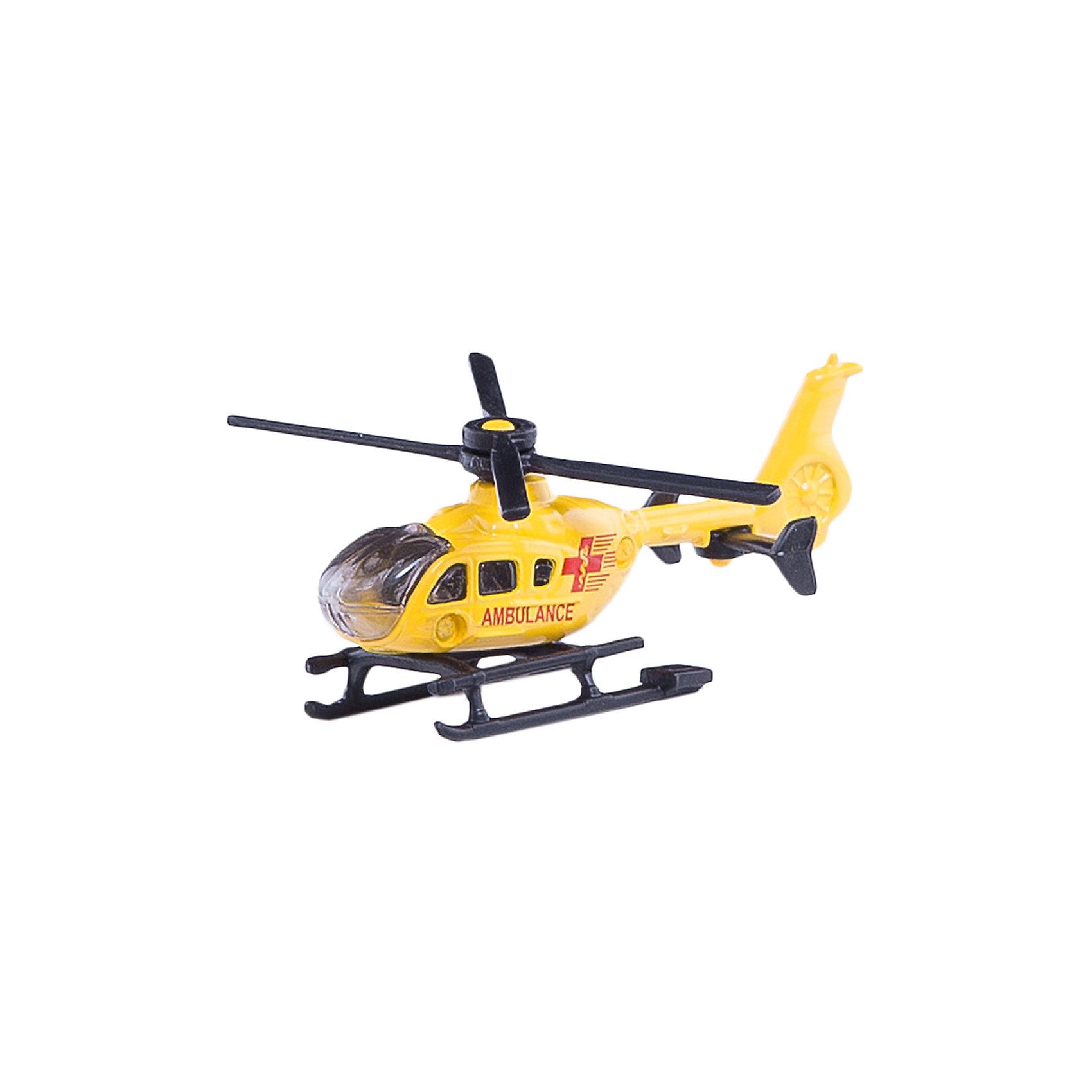 SIKU 0856 Спасательный вертолетСамолёты и вертолёты<br>SIKU (СИКУ) 0856 Спасательный вертолет быстро прибудет туда, где нужна помощь.<br><br>Корпус выполнен из металла, лобовое стекло и боковые стёкла из прозрачного пластика, винт вращается.<br><br>Дополнительная информация:<br>-Материал: металл с элементами пластмассы<br>-Размер игрушки: 8,1 x 6,7 x 3,1 см<br><br>Спасательный вертолет прекрасно подойдет для ребят, увлекающихся техникой.<br><br>SIKU (СИКУ) 0856 Спасательный вертолет можно купить в нашем магазине.<br><br>Ширина мм: 95<br>Глубина мм: 76<br>Высота мм: 17<br>Вес г: 31<br>Возраст от месяцев: 36<br>Возраст до месяцев: 96<br>Пол: Мужской<br>Возраст: Детский<br>SKU: 1439831