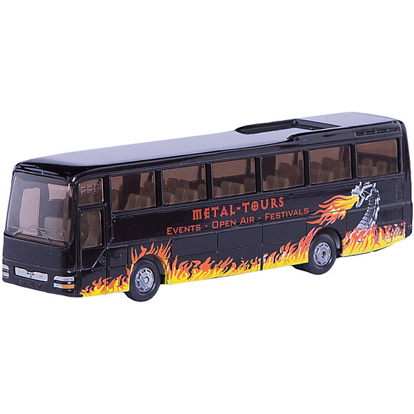 SIKU 1624 Туристический автобус MAN 1:87Машинки<br>SIKU (СИКУ) 1624 Туристический автобус MAN 1:87<br><br>Корпус выполнен из металла, стёкла из прозрачной тонированной пластмассы, колёса выполнены из резины и вращаются, можно катать.<br><br>Дополнительная информация:<br>-Материал: металл с элементами пластмассы<br>-Размер игрушки: 13,8 x 29,5 x 4,1 см<br>-Масштаб: 1:87<br><br>Игрушечная модель туристический автобус MAN отлично дополнит коллекцию миниатюр вашего ребенка.<br><br>SIKU (СИКУ) 1624 Туристический автобус MAN 1:87 можно купить в нашем магазине.<br>Ширина мм: 194; Глубина мм: 76; Высота мм: 32; Вес г: 155; Возраст от месяцев: 36; Возраст до месяцев: 96; Пол: Мужской; Возраст: Детский; SKU: 1439861;