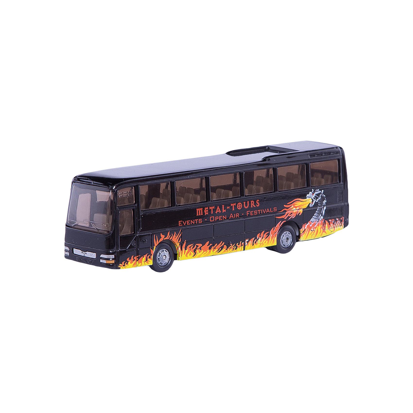SIKU 1624 Туристический автобус MAN 1:87SIKU (СИКУ) 1624 Туристический автобус MAN 1:87<br><br>Корпус выполнен из металла, стёкла из прозрачной тонированной пластмассы, колёса выполнены из резины и вращаются, можно катать.<br><br>Дополнительная информация:<br>-Материал: металл с элементами пластмассы<br>-Размер игрушки: 13,8 x 29,5 x 4,1 см<br>-Масштаб: 1:87<br><br>Игрушечная модель туристический автобус MAN отлично дополнит коллекцию миниатюр вашего ребенка.<br><br>SIKU (СИКУ) 1624 Туристический автобус MAN 1:87 можно купить в нашем магазине.<br><br>Ширина мм: 195<br>Глубина мм: 78<br>Высота мм: 35<br>Вес г: 153<br>Возраст от месяцев: 36<br>Возраст до месяцев: 96<br>Пол: Мужской<br>Возраст: Детский<br>SKU: 1439861