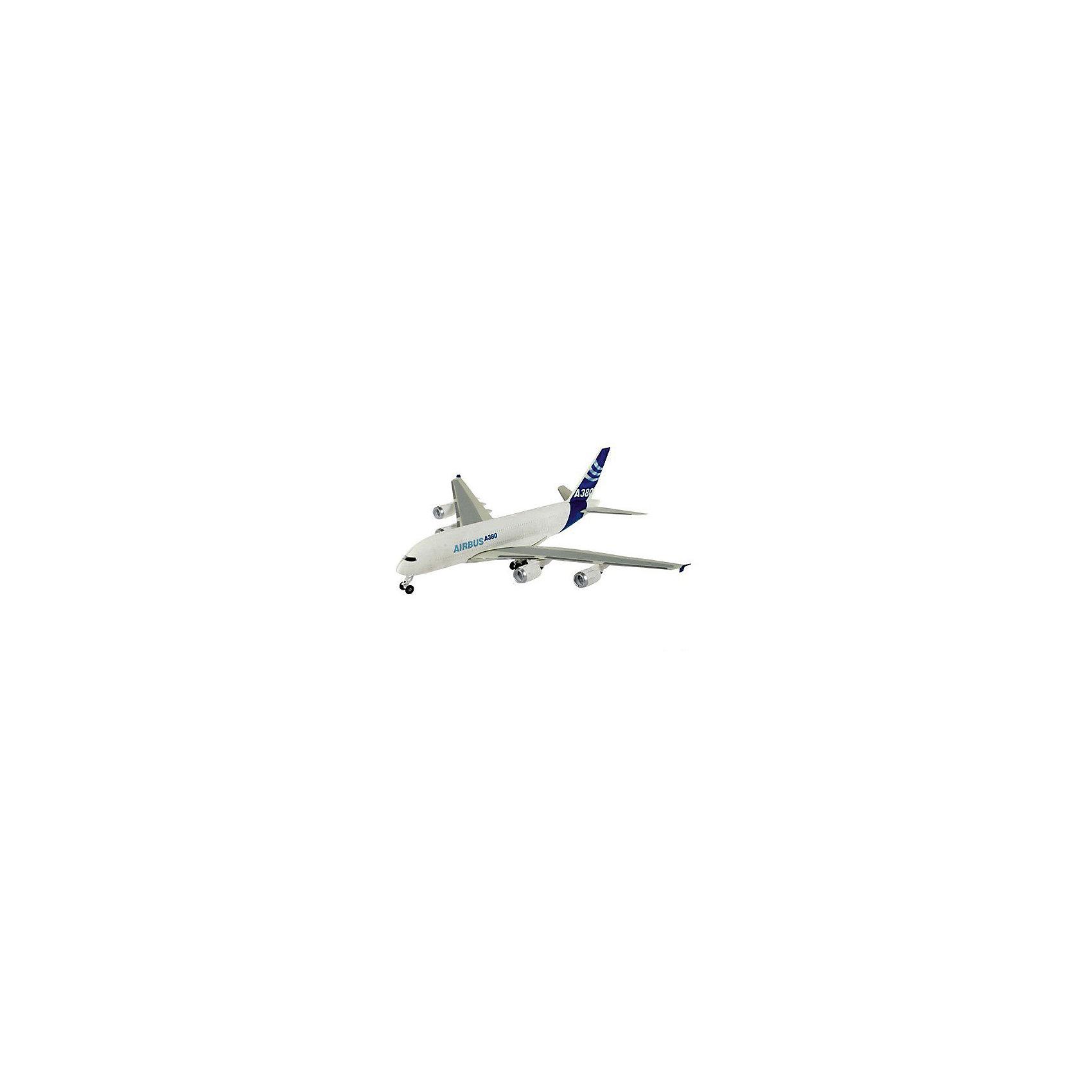 Аэробус A 380 First Flight (1:144)Модели для склеивания<br>Аэробус A 380 First Flight представляет копию настоящего самолета, уменьшенного в 144 раза. Собрать аэробус можно из 163 деталей, а затем раскрасить готовую модель, используя специальные краски. Собранный игрушечный самолет имеет впечатляющие размеры: длина – 50,4 см, размах крыльев – 55,5 см. Модель относится к 4-ому уровню сложности сборки.<br><br>Ширина мм: 97<br>Глубина мм: 235<br>Высота мм: 535<br>Вес г: 875<br>Возраст от месяцев: 168<br>Возраст до месяцев: 228<br>Пол: Мужской<br>Возраст: Детский<br>SKU: 1442137