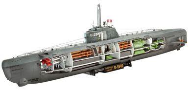 Revell Подводная лодка U-Boot Typ XXI с внутренней отделкой, немецкая
