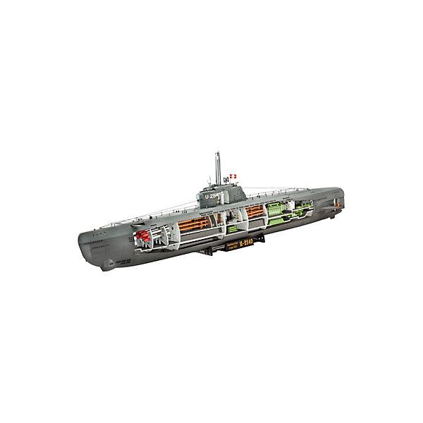 Подводная лодка U-Boot Typ XXI с внутренней отделкой, немецкаяКорабли и подводные лодки<br>Характеристики товара:<br><br>• возраст: от 10 лет;<br>• масштаб: 1:144;<br>• количество деталей: 125 шт;<br>• материал: пластик; <br>• клей и краски в комплект не входят;<br>• длина модели: 53,1 см;<br>• бренд, страна бренда: Revell (Ревел), Германия;<br>• страна-изготовитель: Корея.<br><br>Сборная модель «Подводная лодка U-Boot Typ XXI с внутренней отделкой» поможет вам и вашему ребенку собрать точную копию реального немецкой подводной лодки, выполненную в масштабе 1:144 из высококачественного пластика.<br><br>Немецкая подводная лодка типа XXI времен Второй мировой войны. Суда данного класса выпускались с 1943 года. Всего было построено 118 лодок.<br><br>В комплект набора для склеивания и раскрашивания входит: 125 пластиковых деталей, а также подробная иллюстрирована инструкция. Обращаем ваше внимание на тот факт, что для сборки этой модели клей и краски в комплект не входят. <br><br>Моделирование — это очень увлекательное и полезное занятие, которое по достоинству оценят не только дети, но и взрослые, увлекающиеся военной техникой. Сборка моделей поможет ребенку развить воображение, мелкую моторику ручек и логическое мышление.<br><br>Сборную модель «Подводная лодка U-Boot Typ XXI с внутренней отделкой», 125 дет., Revell (Ревел) можно купить в нашем интернет-магазине.<br><br>Ширина мм: 45<br>Глубина мм: 550<br>Высота мм: 192<br>Вес г: 390<br>Возраст от месяцев: 144<br>Возраст до месяцев: 1164<br>Пол: Унисекс<br>Возраст: Детский<br>SKU: 1442165