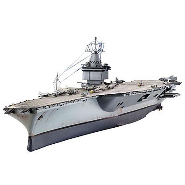 Авианосец U.S.S. Enterprise, 1:720, (3)Корабли и подводные лодки<br>Характеристики товара:<br><br>• возраст: от 10 лет;<br>• цвет: серый;<br>• масштаб: 1:720;<br>• количество деталей: 102 шт;<br>• материал: пластик; <br>• клей и краски в комплект не входят;<br>• длина модели: 48 см;<br>• бренд, страна бренда: Revell (Ревел), Германия;<br>• страна-изготовитель: Китай.<br><br>Сборная модель «Авианосец U.S.S. Enterprise» поможет вам и вашему ребенку придумать увлекательное занятие на долгое время. Модель американского авианосца USS Enterprise. USS Enterprise – первый авианосец с ядерной силовой установкой.<br><br>Набор включает в себя 102 пластиковых детали,  а также подробная иллюстрирована инструкция, что позволяет собрать достоверную масштабную модель одноименного авианосца. Обращаем ваше внимание на тот факт, что для сборки этой модели клей и краски в комплект не входят.<br><br>Моделирование — это очень увлекательное и полезное занятие, которое по достоинству оценят не только дети, но и взрослые, увлекающиеся военной техникой. Сборка моделей поможет ребенку развить воображение, мелкую моторику ручек и логическое мышление.<br><br>Сборную модель «Авианосец U.S.S. Enterprise», 102 дет., Revell (Ревел) можно купить в нашем интернет-магазине.<br><br>Ширина мм: 58<br>Глубина мм: 514<br>Высота мм: 185<br>Вес г: 558<br>Возраст от месяцев: 168<br>Возраст до месяцев: 1164<br>Пол: Мужской<br>Возраст: Детский<br>SKU: 1442166