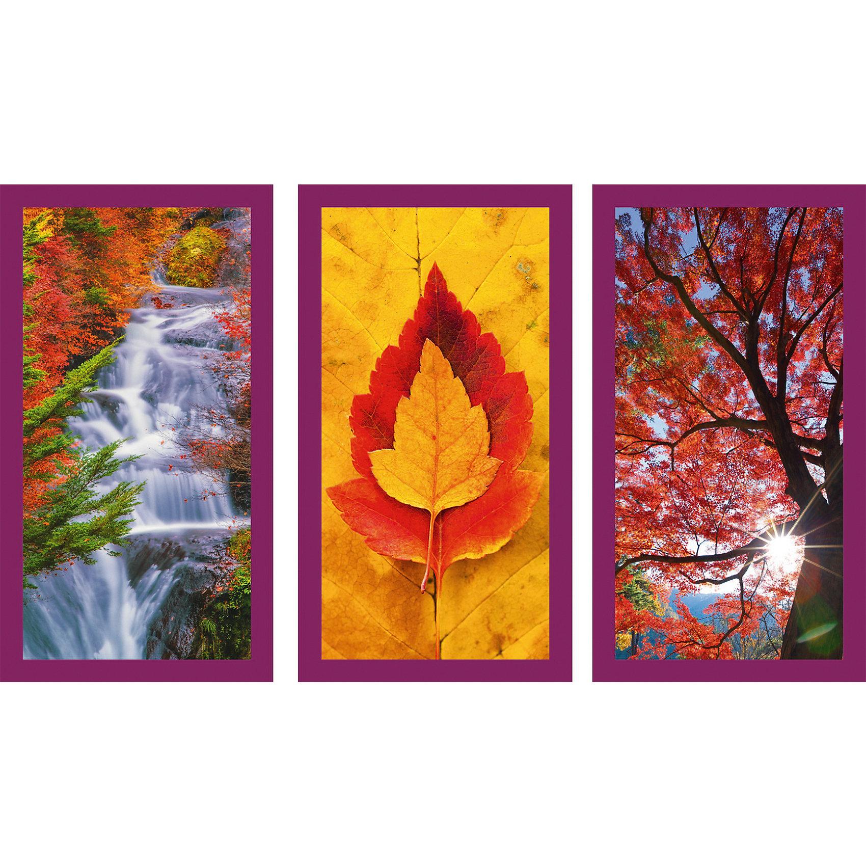 Пазл Осенние впечатления, 3х500 деталей, RavensburgerНабор пазлов 3 в 1 Осенние впечатления - это замечательный комплект для сборки трех удивительных изображений. Готовые картины посвящены теме осени, на них изображены деревья с красными листьями, водопад с чистейшей водой на фоне красивого пейзажа и красно-желтые листики. Детали пазлов выполнены из качественного картона и плотно присоединяются друг к другу без затруднений. У них своя определенная форма, и они подходят только на свои места. Готовыми изображениями можно разнообразить интерьер комнаты<br>В товар входит:<br>-500 деталей<br><br>Дополнительная информация:<br>-Размер картинки 61*46 см <br>-Размер упаковки 33*23*5,5 см <br>-Возраст: от 9 лет<br>-Для девочек и мальчиков<br>-Состав: картон, бумага<br>-Бренд: Ravensburger (Равенсбургер)<br>-Страна обладатель бренда: Германия<br><br>Ширина мм: 370<br>Глубина мм: 55<br>Высота мм: 270<br>Вес г: 1117<br>Возраст от месяцев: 144<br>Возраст до месяцев: 1164<br>Пол: Унисекс<br>Возраст: Детский<br>SKU: 1442527
