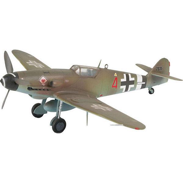 Набор Самолет Messerschmitt Bf-109Модели для склеивания<br>Характеристики товара:<br><br>• возраст: от 10 лет;<br>• масштаб: 1:144;<br>• количество деталей: 37 шт;<br>• материал: пластик;<br>• клей и краски в комплект не входят;<br>• длина модели: 12,6 см;<br>• размах крыльев: 13,8 см;<br>• бренд, страна бренда: Revell (Ревел), Германия;<br>• страна-изготовитель: Польша.<br><br>Набор для сборки «Самолет Messerschmitt Bf-109» поможет вам и вашему ребенку придумать увлекательное занятие на долгое время и весело провести свой досуг. Модель является точной копией истребителя-низкоплана «Мессершмит Bf.109», который являлся основным в штате Люфтваффе во время Второй Мировой. Он выполнял различные цели — от перехватчика до бомбардировщика. Занимает второе место по массовости производимых экземпляров за всю историю.<br><br>В набор входят 37 пластиковых деталей, которые помогут воссоздать истребитель. Детали рекомендуется сначала покрасить в соответствующие цвета красками из комплекта. Когда краски высохнут, детальки можно будет собрать и скрепить при помощи клея, входящего в комплект согласно инструкции. Готовый истребитель украсит стол или книжную полку ребенка. <br><br>Процесс сборки развивает интеллектуальные и инструментальные способности, воображение и конструктивное мышление, а также прививает практические навыки работы со схемами и чертежами. <br><br>Набор для сборки «Самолет Messerschmitt Bf-109», 37 дет., Revell (Ревел) можно купить в нашем интернет-магазине.<br><br>Ширина мм: 270<br>Глубина мм: 33<br>Высота мм: 230<br>Вес г: 200<br>Возраст от месяцев: 72<br>Возраст до месяцев: 1164<br>Пол: Мужской<br>Возраст: Детский<br>SKU: 1458401