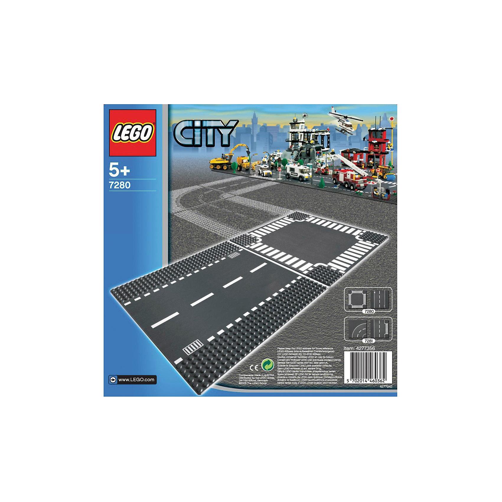 LEGO City  7280: Прямая дорога и перекрёстокПластмассовые конструкторы<br>LEGO City (ЛЕГО Сити) 7280: Прямая дорога и перекрёсток - увлекательный набор для конструирования, который порадует всех юных автолюбителей. В комплект входят две<br>пластины, изображающие участок прямой дороги и перекресток. Комбинируя данный набор с другими наборами ЛЕГО можно построить большую сложную трассу для своего<br>города, где будут и настоящее шоссе для автомобилей, и специальная секция с «зеброй» для пешеходов. Платформы также обладают специальным рельефом и обеспечивают<br>прочное сцепление с кубиками.<br><br>Дополнительная информация:<br><br>- Количество деталей: 2.<br>- Серия: ЛЕГО Сити.<br>- Материал: пластик.<br>- Размер упаковки: 25,6 х 7 х 25,6 см.<br>- Вес: 0,21 кг. <br><br>Игра с конструктором развивает мелкую моторику, фантазию и воображение ребенка, учит его усидчивости и внимательности.<br><br>LEGO City (ЛЕГО Сити) 7280: Прямая дорога и перекрёсток можно купить в нашем интернет-магазине.<br><br>Ширина мм: 264<br>Глубина мм: 261<br>Высота мм: 12<br>Вес г: 189<br>Возраст от месяцев: 60<br>Возраст до месяцев: 144<br>Пол: Мужской<br>Возраст: Детский<br>SKU: 1462463