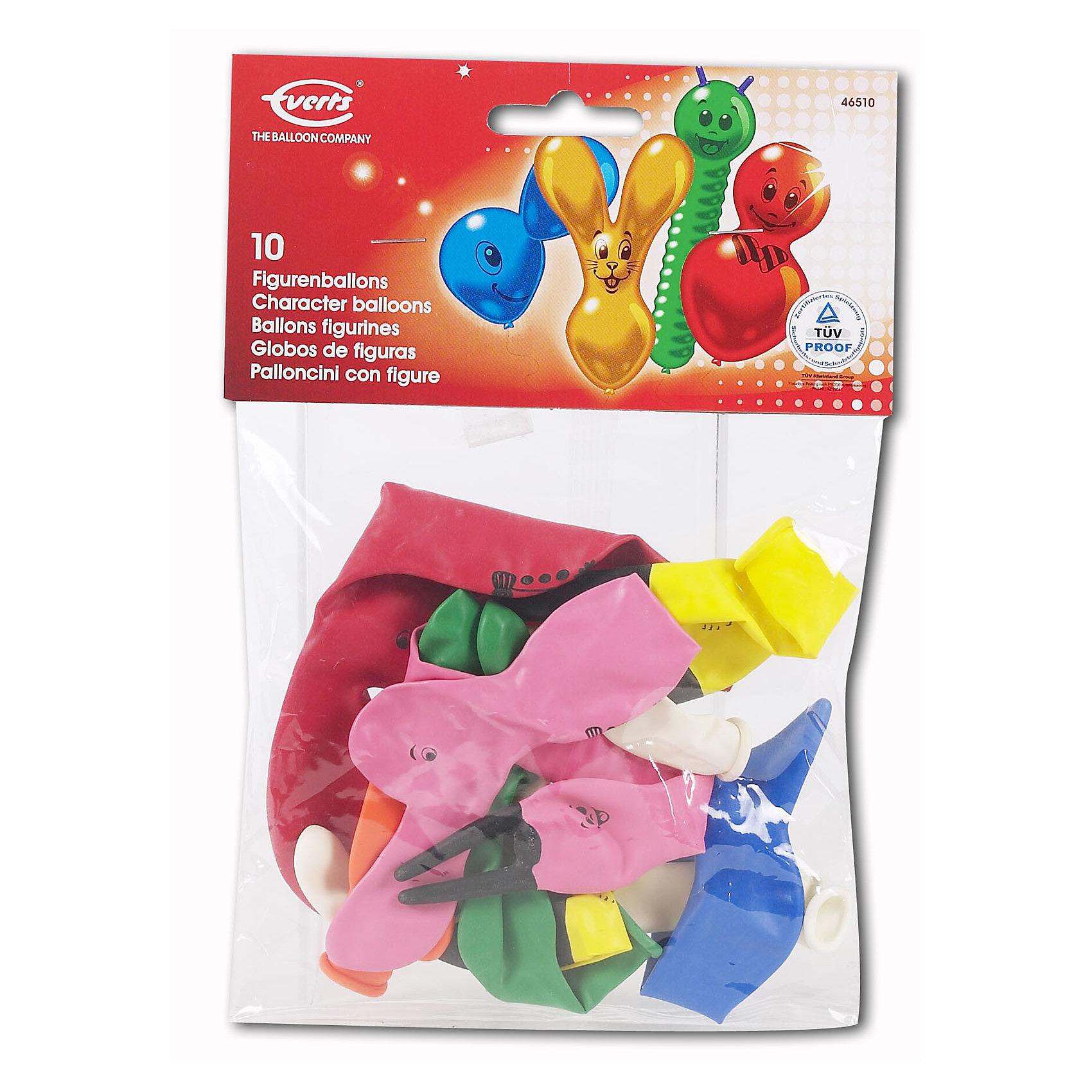 Everts 10 фигурных шариков ассортиВсё для праздника<br>В комплекте есть шарики разных цветов, но самое интересное это их форма. Среди них есть шарики в форме зайчика, гусенички и шарики необычной формы с забавными личиками. Шарики сделаны из безопасных материалов, поэтому играть в них можно с рождения. Надувание шариков способствует развитию дыхательной системы человека, а созерцание развивает эстетическое восприятие.<br><br>Ширина мм: 100<br>Глубина мм: 250<br>Высота мм: 30<br>Вес г: 36<br>Возраст от месяцев: 36<br>Возраст до месяцев: 144<br>Пол: Унисекс<br>Возраст: Детский<br>SKU: 1478526