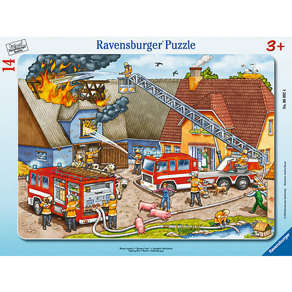 Пазл «Борьба с огнем», 14 деталей, Ravensburger