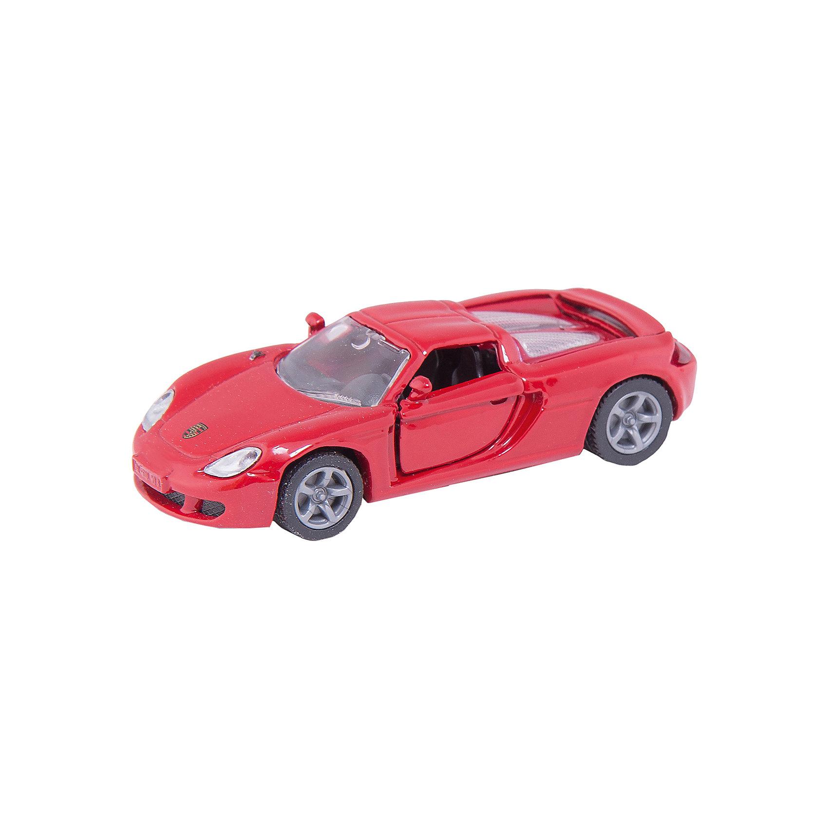 SIKU 1001 Porsche Carrera GTМашинки<br>Модель Porsche Carrera GT фирмы Siku; <br>-отлита из цинка, с пластмассовыми деталями<br>- реалистичный дизайн<br>- обладает множеством подвижных функциональных деталей – разнообразные варианты игры гарантированы<br><br>Игрушечные модели SIKU уже более 50 лет отличаются высоким качеством и безопасностью. Они имеют сертификаты T?V и GS, изготавливаются в соответствии с актуальными предписаниями по безопасности и отмечены знаком SPIEL GUT. <br><br>Игрушки не предназначены для детей младше 36 месяцев, так как содержат мелкие детали, которые могут быть проглочены.<br><br>Д/Ш/В: 50x30x35 мм<br><br>+++Примечание+++<br>Фирма SIKU оставляет за собой право на изменение цвета и технических характеристик моделей. При демонстрации новинок в ряде случаев используются оригинальные фотографии и прототипы. Поставляемая модель может отличаться от представленной на фотографии.<br><br>Ширина мм: 97<br>Глубина мм: 78<br>Высота мм: 38<br>Вес г: 60<br>Возраст от месяцев: 36<br>Возраст до месяцев: 96<br>Пол: Мужской<br>Возраст: Детский<br>SKU: 1503772