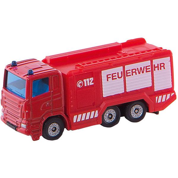 SIKU 1034 Пожарная цистернаМашинки<br>SIKU (СИКУ) 1034 Пожарная цистерна<br><br>Корпус выполнен из металла, лобовое и заднее стёкла из прозрачной тонированной пластмассы, колёса выполнены из пластика и вращаются, можно катать.<br><br>Дополнительная информация:<br>-Размер игрушки: 7,6 x 2,9 x 4,0 см<br>-Материал: металл с элементами пластмассы<br><br>Купите эту игрушку в подарок, и ребенок сам придумает множество сценариев и сюжетов игры.<br><br>SIKU (СИКУ) 1034 Пожарную цистерну можно купить в нашем магазине.<br>Ширина мм: 96; Глубина мм: 76; Высота мм: 32; Вес г: 57; Возраст от месяцев: 36; Возраст до месяцев: 96; Пол: Мужской; Возраст: Детский; SKU: 1503778;
