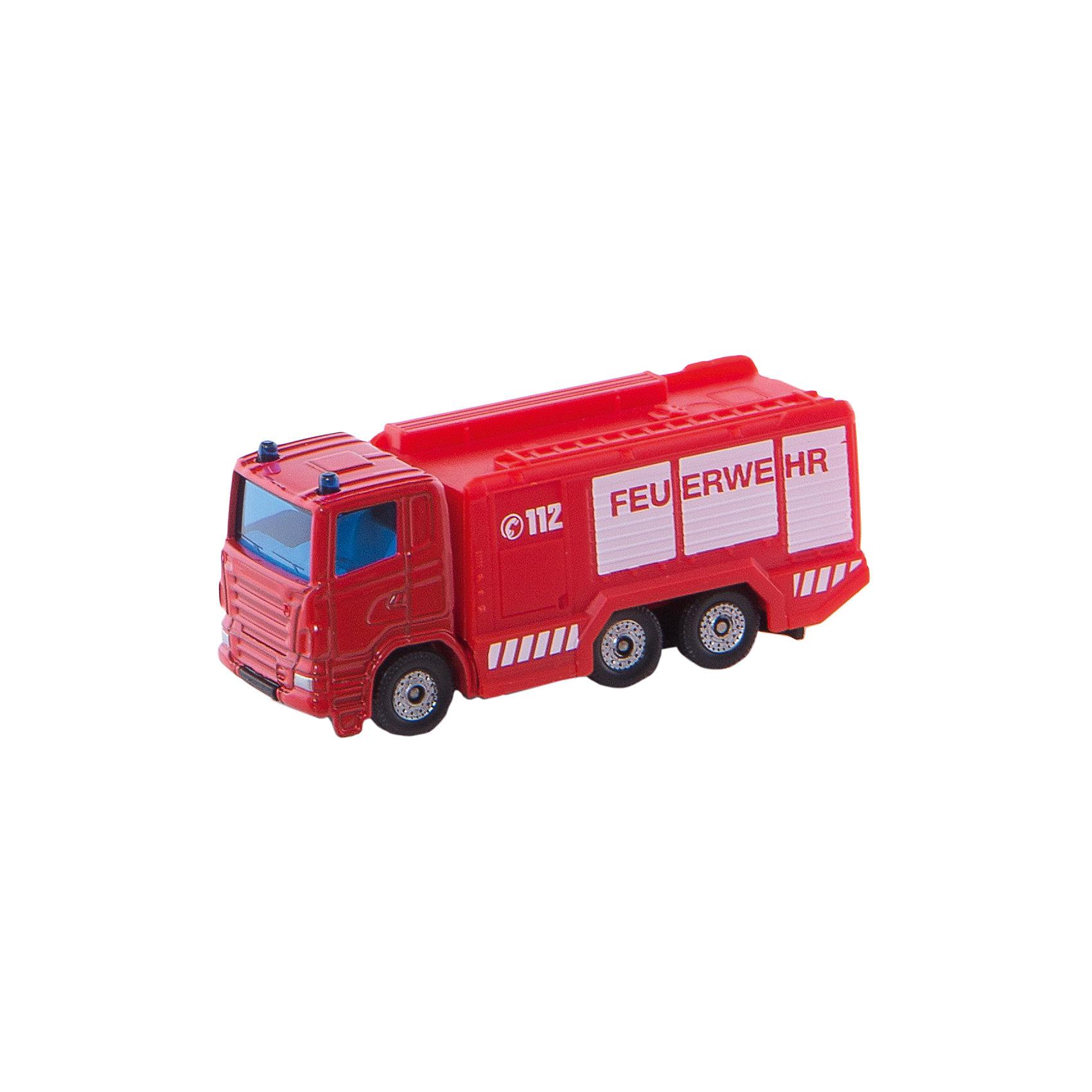 SIKU 1034 Пожарная цистернаМашинки<br>SIKU (СИКУ) 1034 Пожарная цистерна<br><br>Корпус выполнен из металла, лобовое и заднее стёкла из прозрачной тонированной пластмассы, колёса выполнены из пластика и вращаются, можно катать.<br><br>Дополнительная информация:<br>-Размер игрушки: 7,6 x 2,9 x 4,0 см<br>-Материал: металл с элементами пластмассы<br><br>Купите эту игрушку в подарок, и ребенок сам придумает множество сценариев и сюжетов игры.<br><br>SIKU (СИКУ) 1034 Пожарную цистерну можно купить в нашем магазине.<br><br>Ширина мм: 96<br>Глубина мм: 76<br>Высота мм: 32<br>Вес г: 57<br>Возраст от месяцев: 36<br>Возраст до месяцев: 96<br>Пол: Мужской<br>Возраст: Детский<br>SKU: 1503778