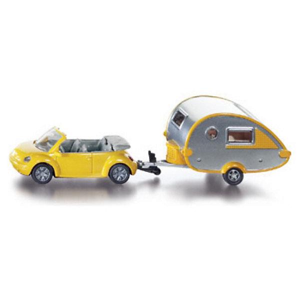 SIKU 1629 Автомобиль с жилым прицепомМашинки<br>SIKU (СИКУ) 1629 Автомобиль с жилым прицепом для юного любителя природы.<br><br>Игрушечная модель автомобиль с прицепом жилым фургоном, корпус машины и прицепа выполнены из металла, колёса выполнены из резины и вращаются, можно катать. Прицеп отцепляется от машины.<br><br>Дополнительная информация:<br>-Размеры: 16,3 x 3,9 x 4,4 см<br>-Материал: металл с элементами пластмассы<br><br>Модели SIKU (СИКУ) всегда порадуют как малышей, так и взрослых коллекционеров. <br><br>SIKU (СИКУ) 1629 Автомобиль с жилым прицепом можно купить в нашем магазине.<br>Ширина мм: 199; Глубина мм: 76; Высота мм: 45; Вес г: 158; Возраст от месяцев: 36; Возраст до месяцев: 96; Пол: Мужской; Возраст: Детский; SKU: 1503796;