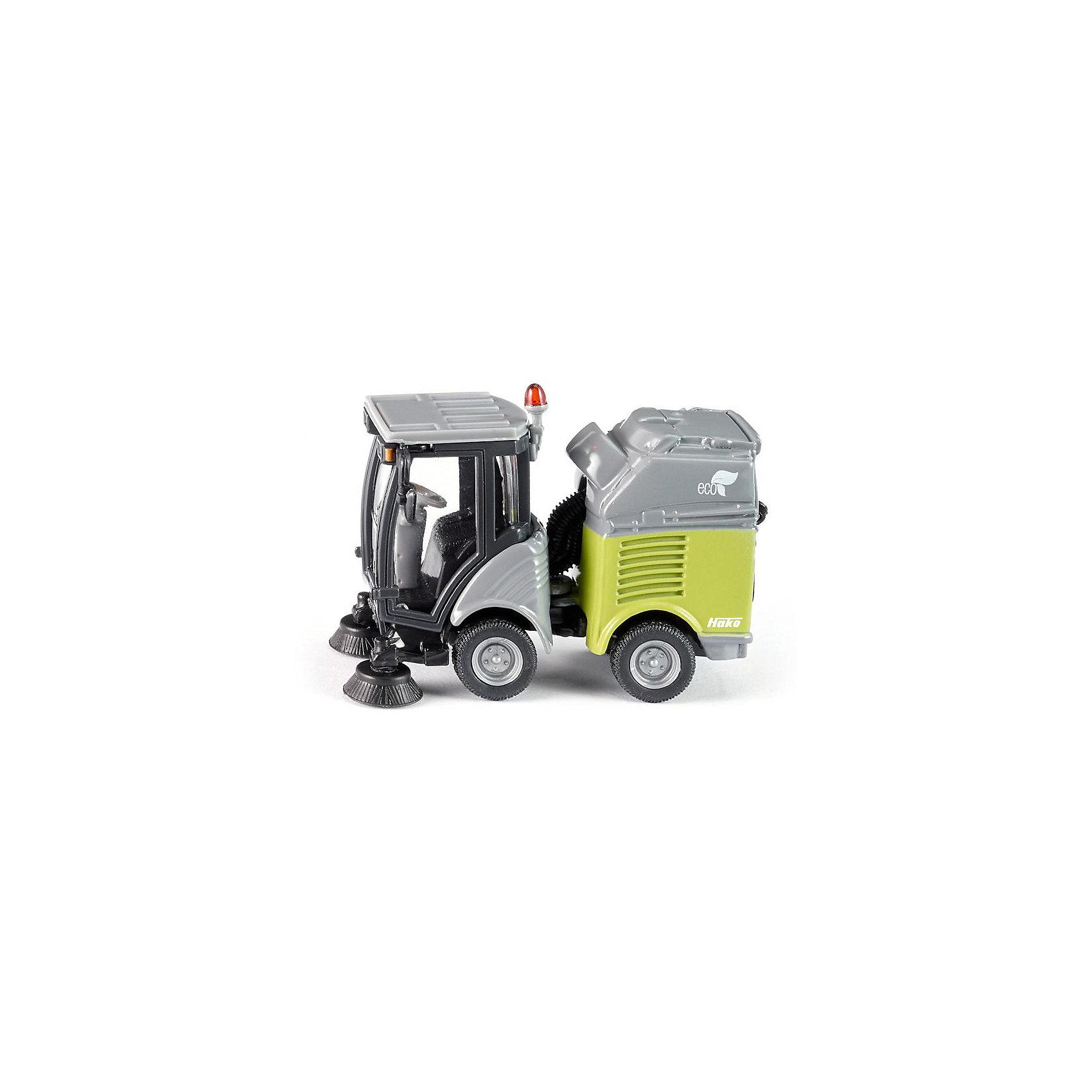 Моющая машина, SIKUКоллекционные модели<br>Моющая машина, SIKU (СИКУ)-игрушечная модель, выполненная в масштабе 1:50.<br><br>Машинка имеет металлический корпус, пластмассовую кабину и резиновые колеса, которые вращаются. Задняя часть машины поворачивается, а имеющийся контейнер для мусора можно вынуть. <br><br>Дополнительная информация:<br>-Материал: металл с элементами пластмассы<br>-Размер игрушки: 6,3 x 3,0 x 4,4 см<br>-масштаб 1:50<br><br>Игра с моделями транспортных средств от SIKU (СИКУ) развивает воображение, мышление, память, мелкую моторику рук и координацию движений детей.<br><br>Моющую машину, SIKU (СИКУ) можно купить в нашем магазине.<br><br>Ширина мм: 104<br>Глубина мм: 66<br>Высота мм: 43<br>Вес г: 84<br>Возраст от месяцев: 36<br>Возраст до месяцев: 96<br>Пол: Мужской<br>Возраст: Детский<br>SKU: 1503811