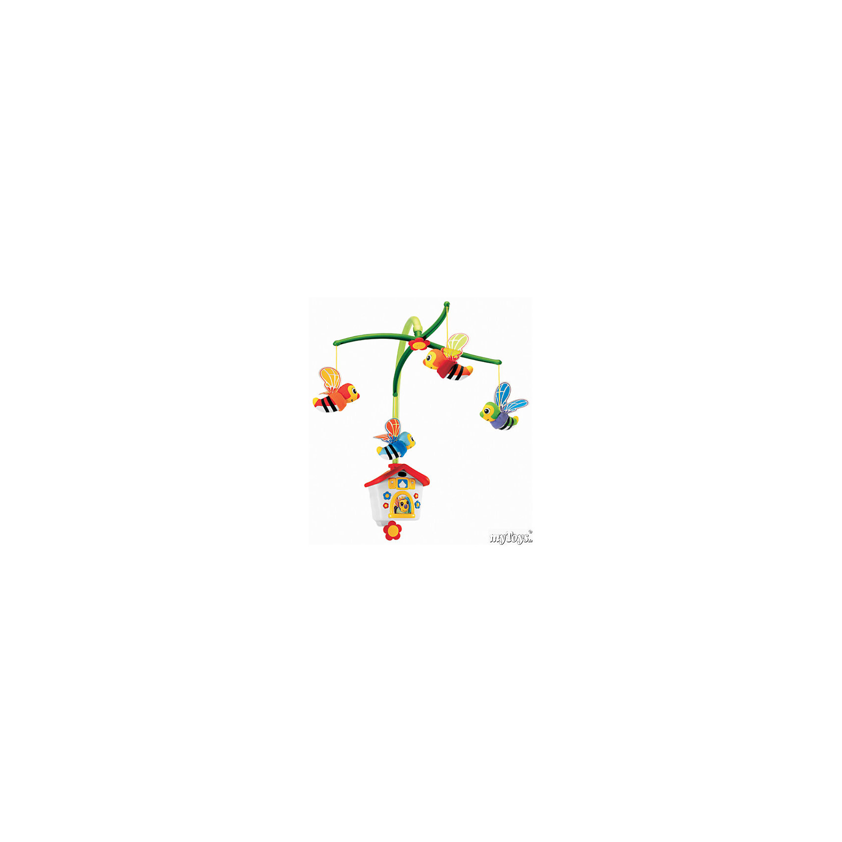Мобиль Пчелки, ChiccoМобиль Пчелки Chicco (Чико) успокоит и развлечет Вашего ребенка!<br><br>Мобиль Пчёлки предназначена для развития детей от рождения. Хоровод ярких пчелок из текстиля летает под звуки нежной музыки. Приятная мелодия поможет успокоить Вашего ребенка перед сном.<br><br>Карусель крепится к неподвижной стенке детской кроватки и заводится поворотом ключа музыкального ящика на карусели. Ее можно использовать как музыкальную шкатулку.<br><br>Мобиль Пчелки Chicco можно купить в нашем интернет-магазине.<br><br>Ширина мм: 453<br>Глубина мм: 149<br>Высота мм: 369<br>Вес г: 1473<br>Возраст от месяцев: 0<br>Возраст до месяцев: 48<br>Пол: Унисекс<br>Возраст: Детский<br>SKU: 1505833