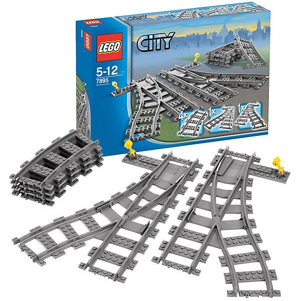 LEGO City 7895: Набор стрелокПластмассовые конструкторы<br>Игровой набор LEGO City Набор стрелок (№ LEGO 7895) из тематической серии Железная дорога, который идеально дополнит железнодорожные наборы ЛЕГО.<br><br>С этим комплектом можно свободно разветвлять треки LEGO. Благодаря этому поезда всегда остаются на правильном пути. <br><br>Дополнительная информация:<br><br>- Включает 4 изогнутых рельса, 1 правую стрелку и 1 левую стрелку <br>- № LEGO: 7895<br>- Возраст: от 5 до 12 лет<br>- В комплекте: 2 стрелки + 4 рельса<br>- Серия: ЛЕГО Сити<br><br>Стрелки не проводят электрический ток, поэтому не подходят для использования вместе со старой 9-вольтной железной дорогой LEGO, которая выпускалась с 1991 по 2006 год. <br><br>LEGO City 7895: Набор стрелок можно купить в нашем магазине.<br><br>Ширина мм: 292<br>Глубина мм: 192<br>Высота мм: 66<br>Вес г: 268<br>Возраст от месяцев: 60<br>Возраст до месяцев: 144<br>Пол: Мужской<br>Возраст: Детский<br>SKU: 1507689
