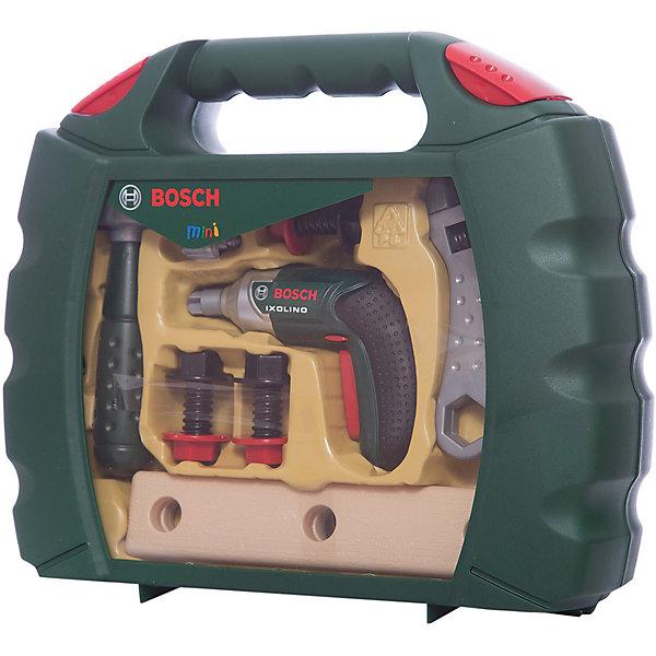 Набор инструментов Bosch, KleinНаборы инструментов<br>Такой набор познакомит юного строителя  с различными инструментами и научиться обращаться с ними. Все инструменты хранятся в специальном чемоданчике, который удобно носить с собой, если вдруг необходимо будет что-то починить.<br><br>Дополнительная информация: <br><br>- Возраст: от 3 лет.<br>- В наборе: дрель, гаечный ключ, пила, молоток, набор шурупов, болтов, два бруска с тремя дырками, чемоданчик.<br>- Материал: пластик.<br><br>Купить набор инструментов Bosch от Klein, можно в нашем магазине.<br>Ширина мм: 320; Глубина мм: 261; Высота мм: 91; Вес г: 897; Возраст от месяцев: 36; Возраст до месяцев: 96; Пол: Мужской; Возраст: Детский; SKU: 1516559;