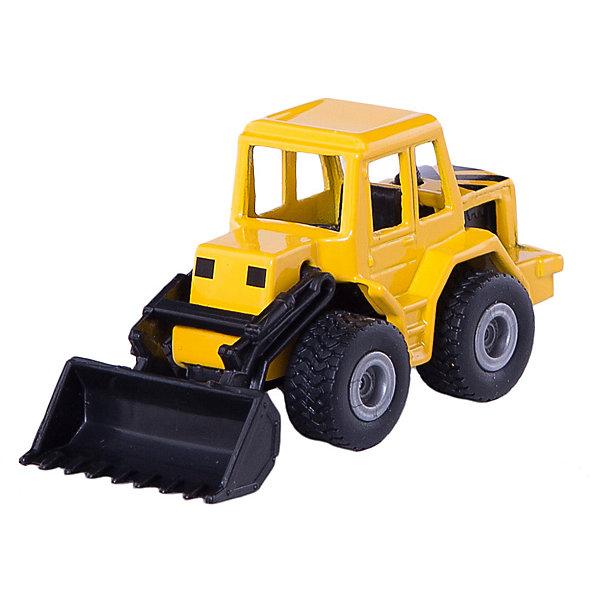 SIKU 0802 Фронтальный погрузчикМашинки<br>Игрушечная модель SIKU (СИКУ) 0802 Фронтальный погрузчик создана для маленьких строителей.<br><br>Кабина машинки выполнена из металла, ковш поднимается и опускается, колёса бульдозера вращаются и выполнены из мягкой резины.<br><br>Дополнительная информация:<br>-Размер: 7,4х3,5х3,7<br>-Материал:металл с элементами пластмассы<br><br>Тщательно выполненная модель фронтального погрузчика, достойный внешний вид делает эту машинку отличным подарком.<br><br>SIKU (СИКУ) 0802 Фронтальный погрузчик можно купить в нашем магазине.<br>Ширина мм: 94; Глубина мм: 75; Высота мм: 36; Вес г: 40; Возраст от месяцев: 36; Возраст до месяцев: 96; Пол: Мужской; Возраст: Детский; SKU: 1519978;
