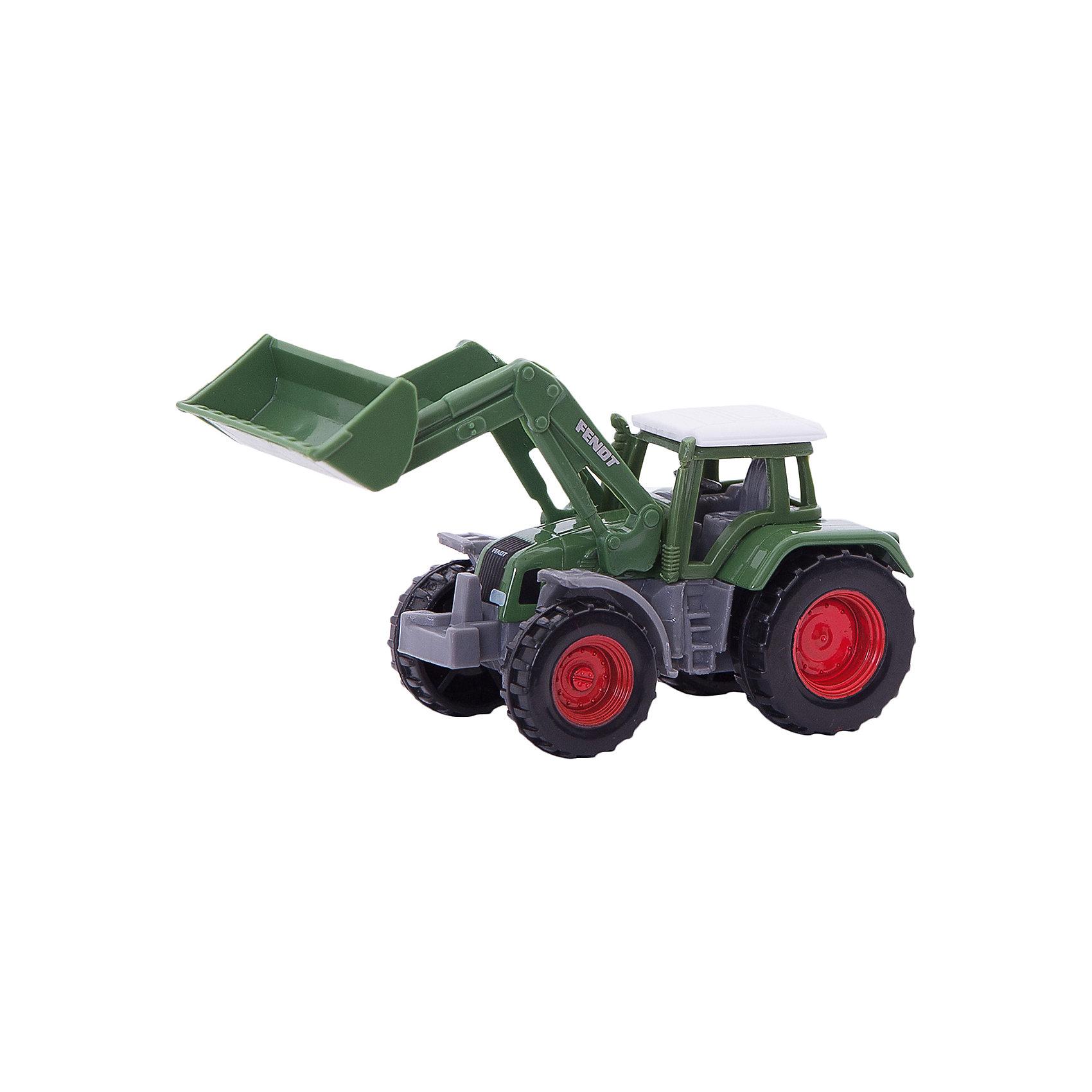 SIKU 1039 Трактор Fendt с ковшомSIKU (СИКУ) 1039 Трактор Fendt с ковшом-это игрушечная модель для маленьких строителей.<br><br>Корпус выполнен из металла, кабина из пластика, ковш поднимается и опускается, колёса трактора вращаются и выполнены из пластика, можно катать. Сзади есть сцепное устройство, можно использовать с прицепом от SIKU (СИКУ).<br><br>Дополнительная информация:<br>-размер игрушки: 9,4 x 3,9 x 4,3 см<br>-Материал: металл с элементами пластмассы, резина<br><br>Благодаря высокому качеству исполнения и сохранению высокой детализации, эта игрушка будет интересна не только детям, но и взрослым коллекционерам. С коллекцией моделей рабочей техники от SIKU (СИКУ) вы сможете создать собственный уникальный автопарк, достойный сравниться с лучшими коллекциями автомоделей мира!<br><br>SIKU (СИКУ) 1039 Трактор Fendt с ковшом можно купить в нашем магазине.<br><br>Ширина мм: 98<br>Глубина мм: 88<br>Высота мм: 43<br>Вес г: 48<br>Возраст от месяцев: 36<br>Возраст до месяцев: 96<br>Пол: Мужской<br>Возраст: Детский<br>SKU: 1519988