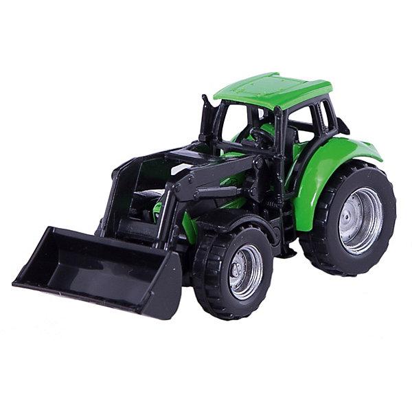 SIKU 1043 Трактор Deutz с ковшомМашинки<br>SIKU (СИКУ) 1043 Трактор Deutz с ковшом-это игрушечная модель для маленьких строителей. <br><br>Корпус игрушки выполнен из металла, кабина пластиковая, ковш можно поднимать и опускать, что придает большее сходство с настоящим трактором. Благодаря пластиковым вращающимся колесам  модель можно катать. Сзади есть сцепное устройство, можно использовать с прицепом от SIKU (СИКУ).<br><br>Дополнительная информация:<br>-размер игрушки: 9,3 x 3,7 x 4,5 см<br>-материал: металл с элементами пластмассы<br>-масштаб 1:32<br><br>Игрушечная модель трактора для маленького строителя идеально дополнит коллекцию малыша. Игра с моделями тракторов SIKU (СИКУ) развивает воображение, мышление, память, мелкую моторику рук и координацию движений детей.<br><br>SIKU (СИКУ) 1043 Трактор Deutz с ковшом можно купить в нашем магазине.<br>Ширина мм: 95; Глубина мм: 80; Высота мм: 41; Вес г: 54; Возраст от месяцев: 36; Возраст до месяцев: 96; Пол: Мужской; Возраст: Детский; SKU: 1519989;