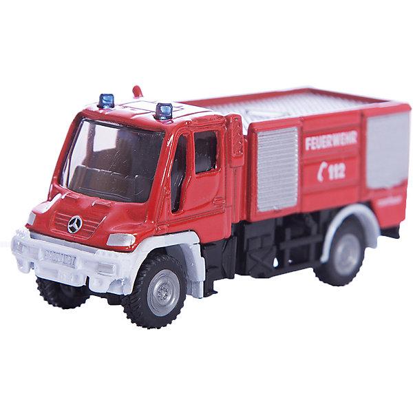 SIKU 1068 Пожарная машина Unimog 1:87Машинки<br>Масштабная модель SIKU (СИКУ) 1068 Пожарная машина Unimog 1:87, выпускавшейся в 70-е годы 20 века.<br><br>Модель окрашена в традиционный красный цвет, на борта машины нанесены отличительные знаки. Корпус выполнен из металла, лобовое и боковые стёкла из прозрачной тонированной пластмассы, колёса выполнены из пластика и вращаются, можно катать. Сзади есть сцепное устройство, можно использовать с прицепом SIKU (СИКУ).<br><br>Дополнительная информация:<br>-Материал: металл с элементами пластмассы<br>-Размер игрушки: 7,7 x 2,5 x 3,5 см<br>-Материал: металл, пластик, резина<br><br>Благодаря высокому качеству исполнения и сохранению высокой детализации, эта игрушка будет интересна не только детям, но и взрослым коллекционерам.<br><br>SIKU (СИКУ) 1068 Пожарную машину Unimog 1:87 можно купить в нашем магазине.<br><br>Ширина мм: 96<br>Глубина мм: 78<br>Высота мм: 30<br>Вес г: 60<br>Возраст от месяцев: 36<br>Возраст до месяцев: 96<br>Пол: Мужской<br>Возраст: Детский<br>SKU: 1519997