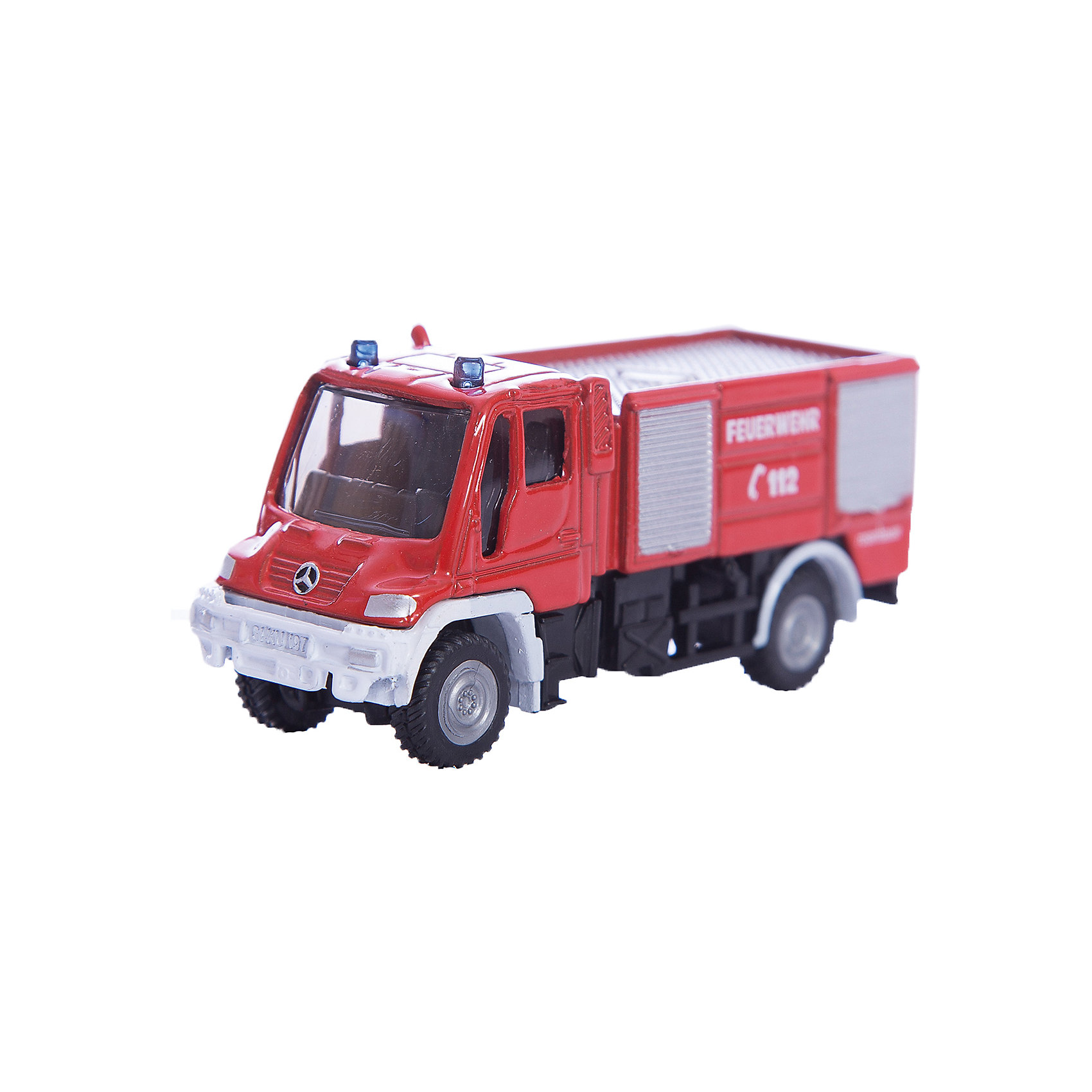 SIKU 1068 Пожарная машина Unimog 1:87Масштабная модель SIKU (СИКУ) 1068 Пожарная машина Unimog 1:87, выпускавшейся в 70-е годы 20 века.<br><br>Модель окрашена в традиционный красный цвет, на борта машины нанесены отличительные знаки. Корпус выполнен из металла, лобовое и боковые стёкла из прозрачной тонированной пластмассы, колёса выполнены из пластика и вращаются, можно катать. Сзади есть сцепное устройство, можно использовать с прицепом SIKU (СИКУ).<br><br>Дополнительная информация:<br>-Материал: металл с элементами пластмассы<br>-Размер игрушки: 7,7 x 2,5 x 3,5 см<br>-Материал: металл, пластик, резина<br><br>Благодаря высокому качеству исполнения и сохранению высокой детализации, эта игрушка будет интересна не только детям, но и взрослым коллекционерам.<br><br>SIKU (СИКУ) 1068 Пожарную машину Unimog 1:87 можно купить в нашем магазине.<br><br>Ширина мм: 96<br>Глубина мм: 78<br>Высота мм: 30<br>Вес г: 60<br>Возраст от месяцев: 36<br>Возраст до месяцев: 96<br>Пол: Мужской<br>Возраст: Детский<br>SKU: 1519997