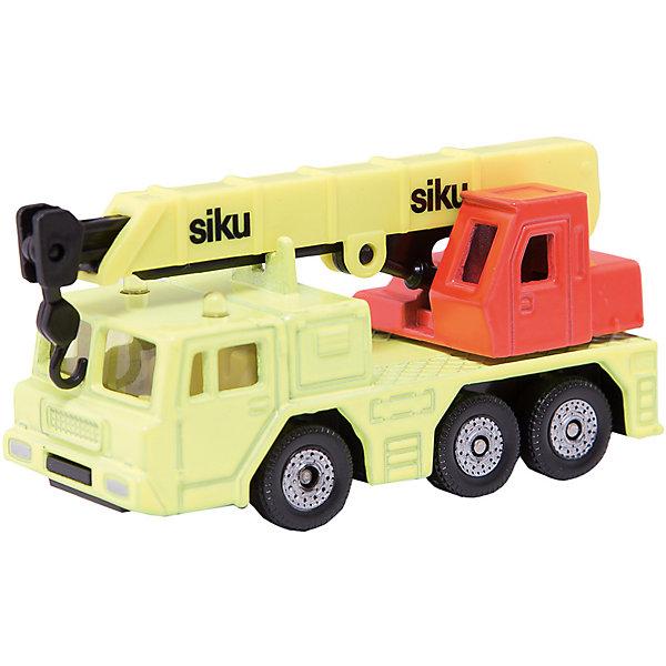 SIKU 1326 Автомобиль с гидравлическим подъемным краномМашинки<br>SIKU (СИКУ) 1326 Автомобиль с гидравлическим подъемным краном<br><br>Корпус и кабина выполнены из металла, лобовое и боковые стёкла из прозрачной пластмассы, колёса выполнены из пластика и вращаются, можно катать. Стрела поднимается, выдвигается и поворачивается.<br><br>Дополнительная информация:<br>-Материал: металл с элементами пластмассы<br>-Размер игрушки: 7,6 x 2,8 x 3,5 см<br><br>Игрушечная модель Автомобиль с гидравлическим подъемным краном создана для маленького строителя и позволит вашему ребенку пополнить свою коллекцию копий автомобилей.<br><br>SIKU (СИКУ) 1326 Автомобиль с гидравлическим подъемным краном можно купить в нашем магазине.<br>Ширина мм: 95; Глубина мм: 78; Высота мм: 30; Вес г: 69; Возраст от месяцев: 36; Возраст до месяцев: 96; Пол: Мужской; Возраст: Детский; SKU: 1520008;