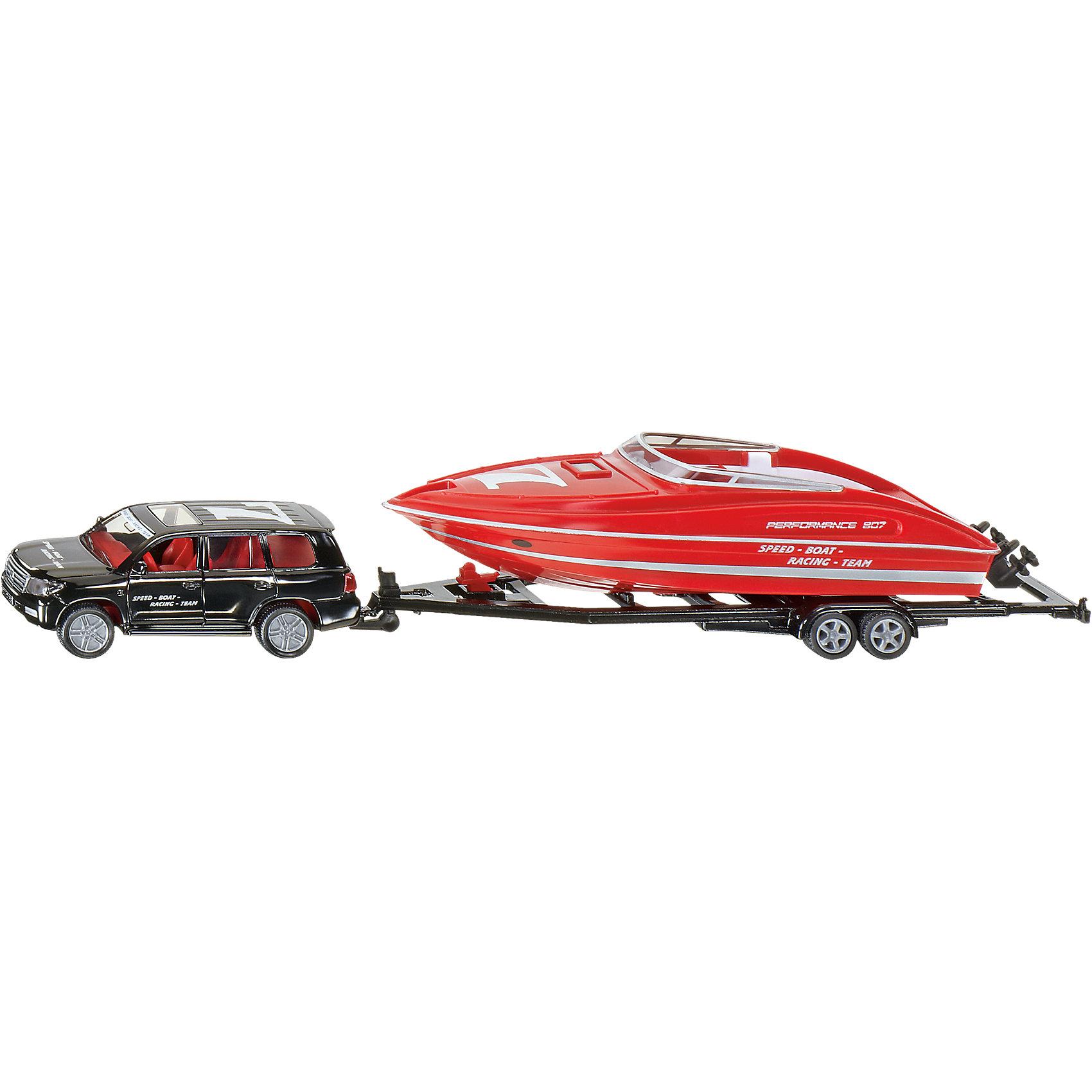 SIKU SIKU 2543 Машина с катером машинки siku автомобиль и прицеп с лодкой на воздушной подушке