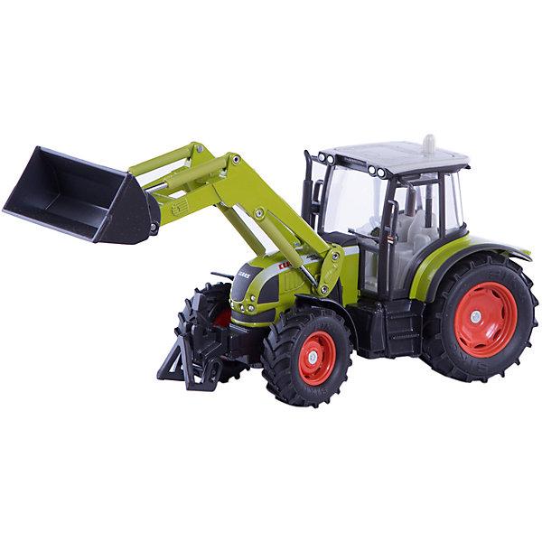 Трактор с фронтальным погрузчиком, SIKUМашинки<br>Трактор с фронтальным погрузчиком, SIKU (СИКУ)-отличный пример прекрасной уменьшенной копии настоящего трактора!<br><br>Корпус трактора выполнен из металла, кабина трактора из пластмассы, стёкла из прозрачной пластмассы, колёса трактора выполнены из резины, можно катать. Передние колёса поворачиваются. Ковш поднимается и опускается. Трактор оборудован сцепным устройством совместимым с прицепами и навесным оборудованием SIKU (СИКУ) FARMER масштаба 1:32. <br><br>Дополнительная информация:<br>-Размеры: 23,0 x 7,8 x 10,6 см<br>-Материал: металл с элементами пластмассы<br>-Масштаб: 1:32<br><br>Трактор с фронтальным погрузчиком  обладает множеством подвижных функциональных деталей-разнообразные варианты игры гарантированы вашему ребенку.<br><br>Трактор с фронтальным погрузчиком, SIKU (СИКУ) можно купить в нашем магазине.<br><br>Ширина мм: 265<br>Глубина мм: 134<br>Высота мм: 88<br>Вес г: 734<br>Возраст от месяцев: 36<br>Возраст до месяцев: 96<br>Пол: Мужской<br>Возраст: Детский<br>SKU: 1520079