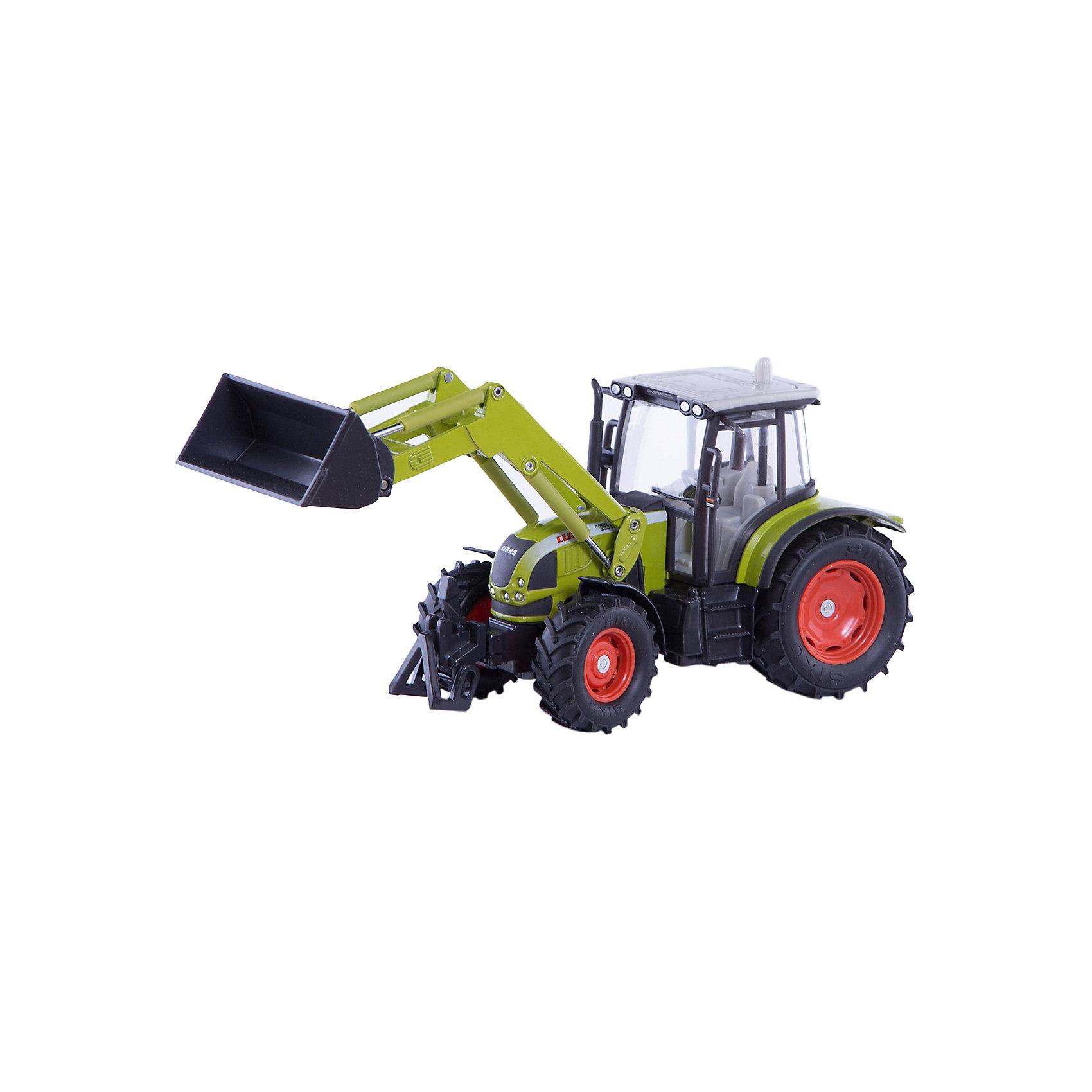 SIKU Трактор с фронтальным погрузчиком, SIKU машинки tomy трактор john deere 6830 с двойными колесами и фронтальным погрузчиком