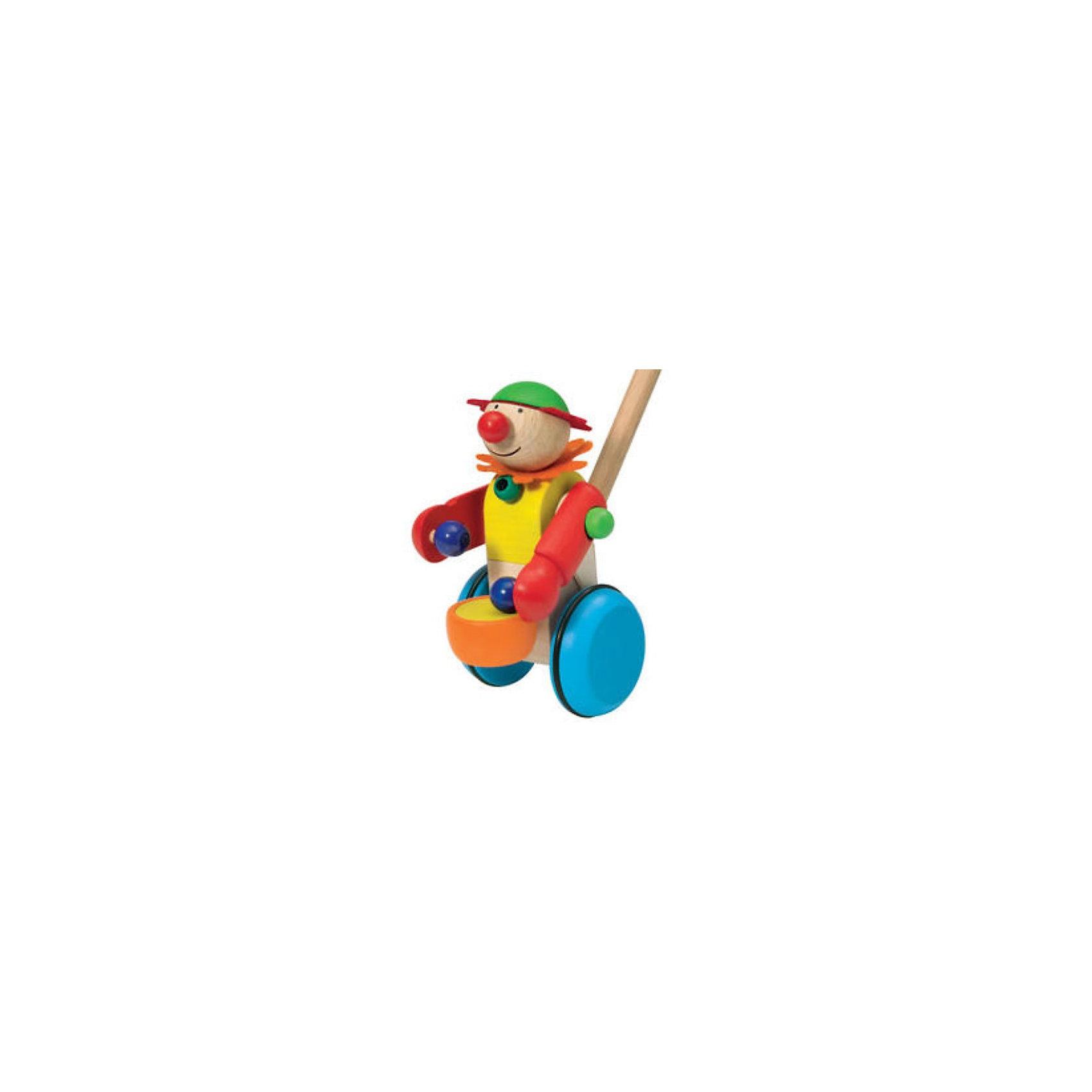 Selecta Каталка ТамбориниИгрушки-каталки<br>Для первых шагов: шустрый барабанщик бьет в свой барабан, когда малыши прочно стоят на земле.    <br>      <br>    <br>    Дополнительные характеристики:  <br>      <br>    <br>    + Размер: 16 см   <br>      <br>    <br>    + Материал: дерево  <br>      <br>    <br>    + Безопасность проверена Союзом работников технического надзора (T?V)    <br>      <br>    <br>    Структура дерева пробуждает фантазию и передает самые разные впечатления, обращаясь к разным органам чувств. Данный артикул дополнительно обработан пчелиным воском, что делает его поверхность гладкой и мягкой. Естественный аромат способствует развитию чувств и ощущений у детей.<br><br>Ширина мм: 185<br>Глубина мм: 185<br>Высота мм: 555<br>Вес г: 200<br>Возраст от месяцев: 12<br>Возраст до месяцев: 36<br>Пол: Унисекс<br>Возраст: Детский<br>SKU: 1541960