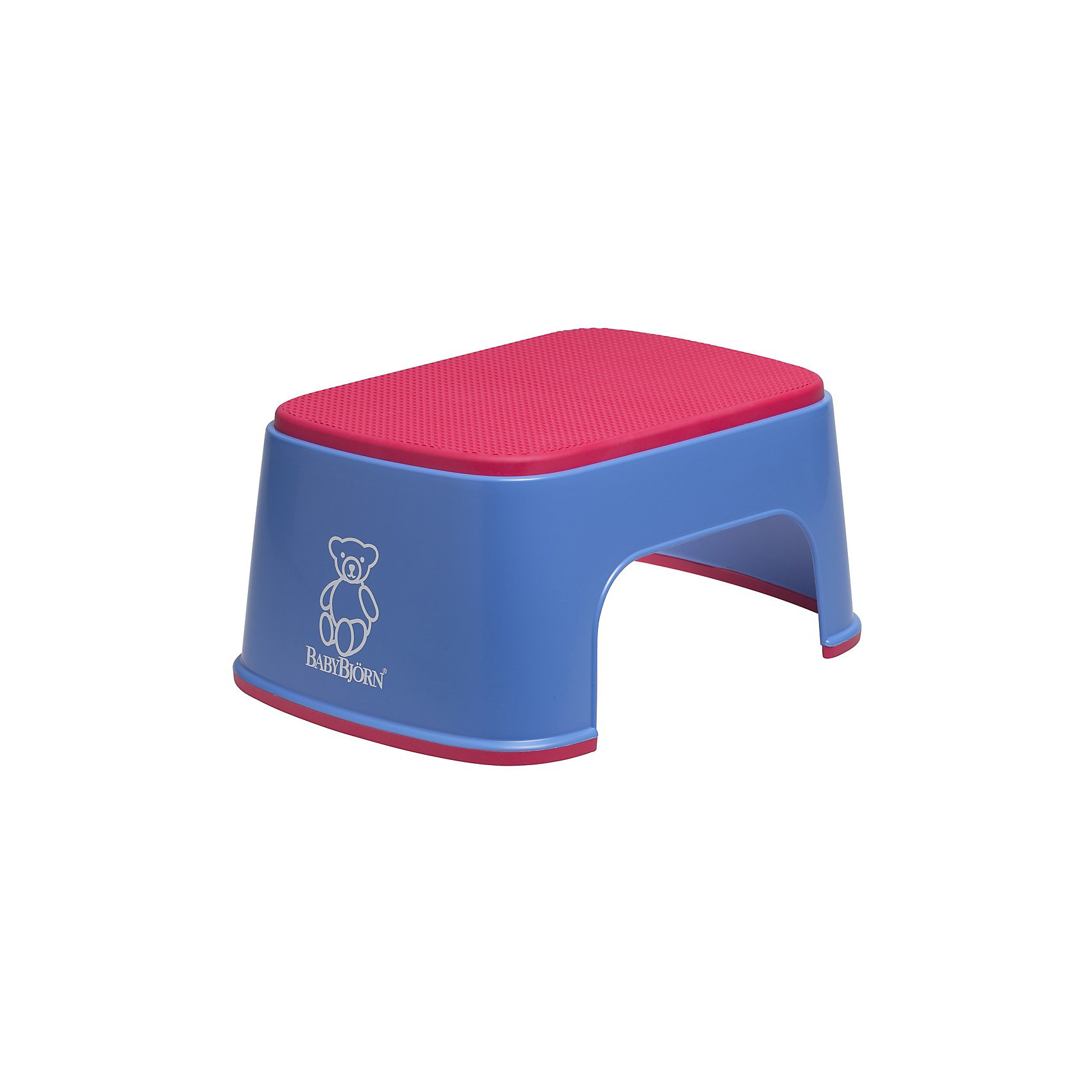 Стульчик-подставка BabyBjorn, синийСтульчик-подставка BabyBjorn (БэйбиБьёрн) - безопасный шаг наверх! <br><br>Со стульчиком-подставкой Ваш ребенок легко и спокойно  может почистить зубы или вымыть руки, не обращаясь к Вам за помощью. Резиновая поверхность стульчика-подставки создана для того, чтобы ребенок не поскользнулся, даже если его ножки мокрые. Надежная резиновая прокладка на основании предотвращает скольжение  подставки. <br>Стульчик легко содержать в чистоте - просто ополосните его под краном. <br>Широкая цветовая гамма дает возможность выбрать максимально подходящий для вашей ванной комнаты цвет.<br><br>Дополнительная информация:<br><br>- Размер: 35 х 24 х 15 см. <br>- Материал: пластик, резина.<br>- Максимальный вес для BABYBJ?RN Стульчика–подставки не установлен. Изделие предназначено для детей. BABYBJ?RN Стульчик–подставка достаточно прочен, чтобы выдержать взрослого, но он  однозначно рассчитан на детей.<br><br>Стульчик-подставку BabyBjorn синего цвета можно купить в нашем интернет-магазине.<br><br>Ширина мм: 350<br>Глубина мм: 240<br>Высота мм: 160<br>Вес г: 570<br>Возраст от месяцев: 12<br>Возраст до месяцев: 48<br>Пол: Унисекс<br>Возраст: Детский<br>SKU: 1571395