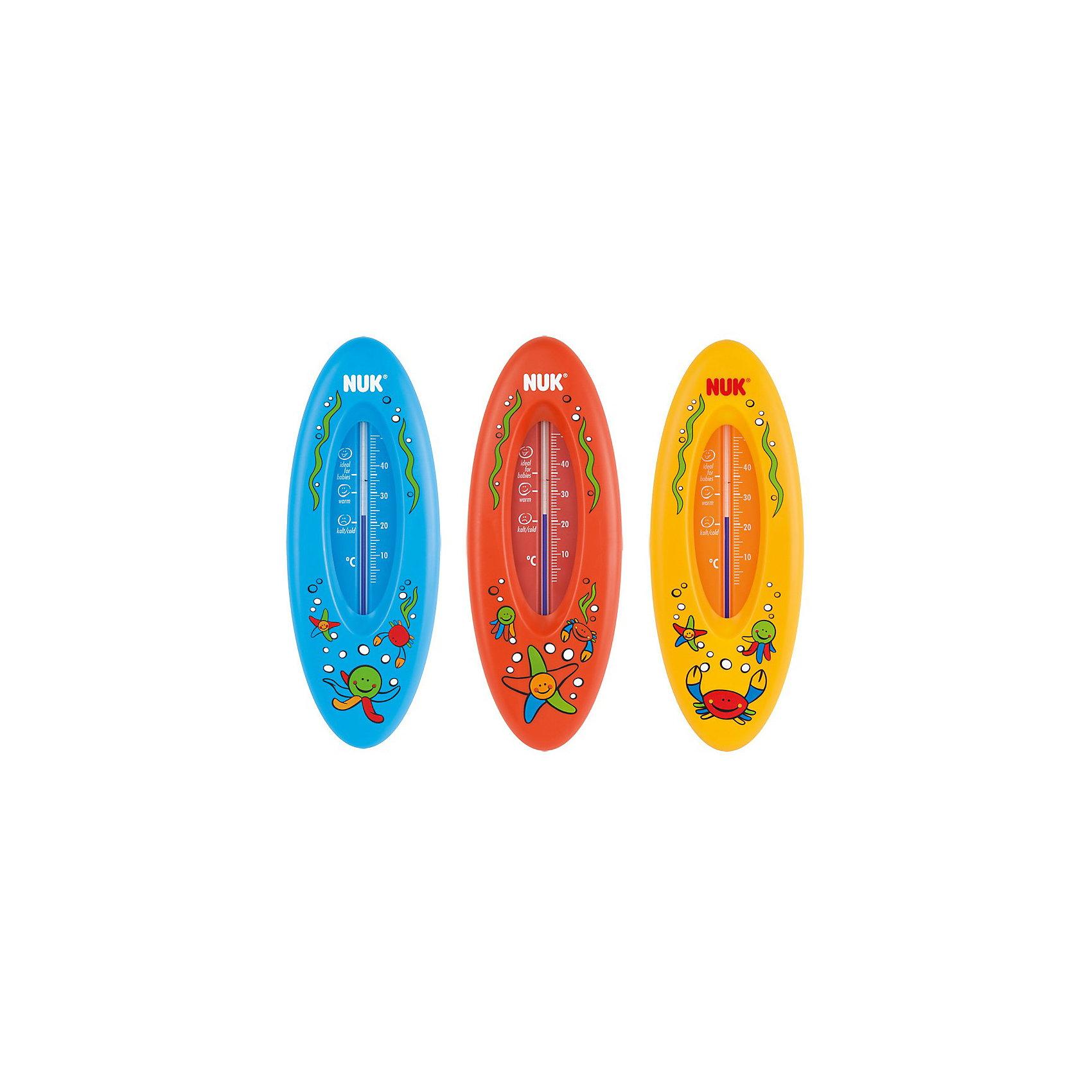 Термометр для ванной, NUK, ОкеанНесоотнесенные<br>Удобный и точный термометр для ванной. Жидкость в термометре изготовлена из натурального рапсового масла, не содержит ртуть, что обеспечивает его безопасное использование. <br><br>Дополнительная информация:<br><br>- Материал: пластик, рапсовое масло.<br>- Цвет: голубой, красный, желтый. <br>- Размер: 6х16х1,5 см. <br>ВНИМАНИЕ! Данный артикул представлен в разных цветовых вариантах. К сожалению, заранее выбрать определенный цвет невозможно. При заказе нескольких термометров возможно получение одинаковых.<br><br>Термометр для ванной, NUK (Нук), Океан можно купить в нашем магазине.<br><br>Ширина мм: 190<br>Глубина мм: 116<br>Высота мм: 17<br>Вес г: 45<br>Возраст от месяцев: 0<br>Возраст до месяцев: 1164<br>Пол: Унисекс<br>Возраст: Детский<br>SKU: 1575468