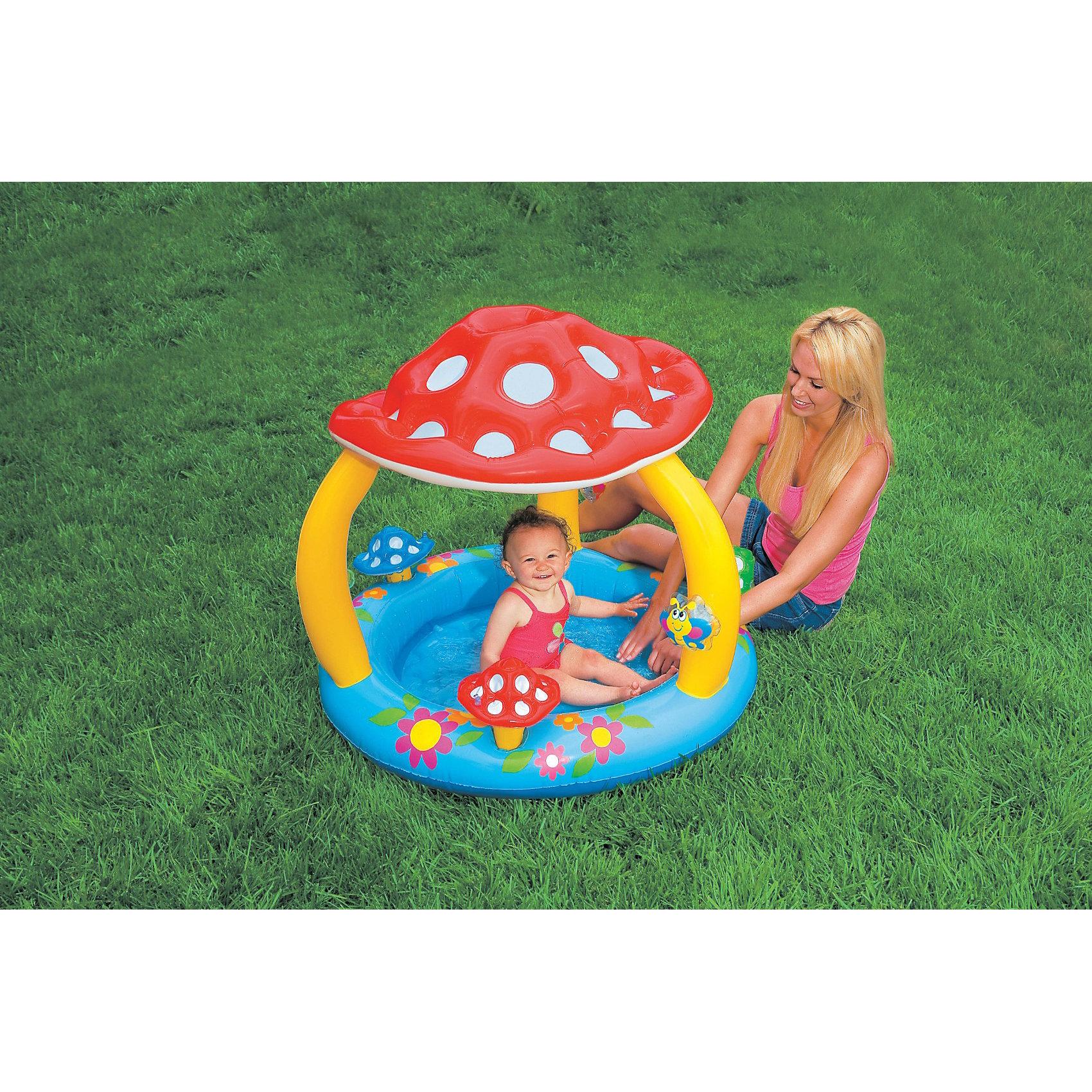 Детский надувной бассейн Мухомор, Intex