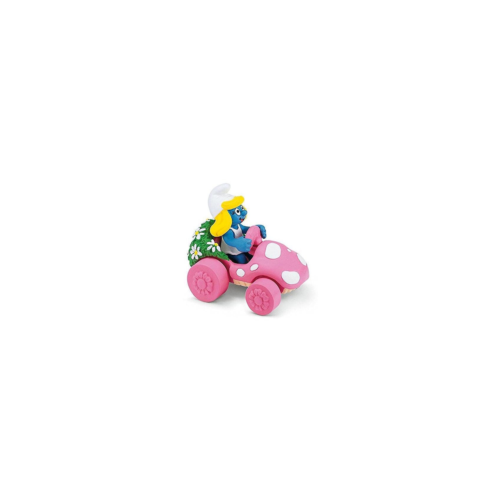 Игровой набор Гномик в розовой машинке - Смурфетта, SchleichСмурфики Игровые наборы и игрушки<br>Характеристики:<br><br>• возраст: от 3-х лет;<br>• материал: пластик каучуковый;<br>• тематика: «Смурфики»;<br>• высота фигурки: 7 см;<br>• вес: 29 г;<br>• размеры: 4х3х7 см;<br>• особенности ухода: влажная чистка.<br><br>Гномик в розовой машинке, Schleich, Schleich – эта фигурка смурфа, выполненная по мотивам популярного мультфильма «Смурфы в 3D». <br><br>Игрушка выполнена в миниатюрном размере. Полностью соответствует облику экранного прототипа: у Смурфетты короткое белое платье и белый колпачок, сидит она в ярко розовом дизайнерском автомобиле.<br><br>Фигурки от Шляйх выполнены из экологически безопасного каучукового пластика, который устойчив к появлению царапин и сколов. Гномик раскрашен вручную, что обеспечивает высокую детализацию даже самых мелких деталей и элементов.<br><br>Гномика в розовой машинке, Schleich, Schleich можно купить в нашем интернет-магазине.<br><br>Ширина мм: 80<br>Глубина мм: 68<br>Высота мм: 43<br>Вес г: 69<br>Возраст от месяцев: 36<br>Возраст до месяцев: 2147483647<br>Пол: Унисекс<br>Возраст: Детский<br>SKU: 1599993