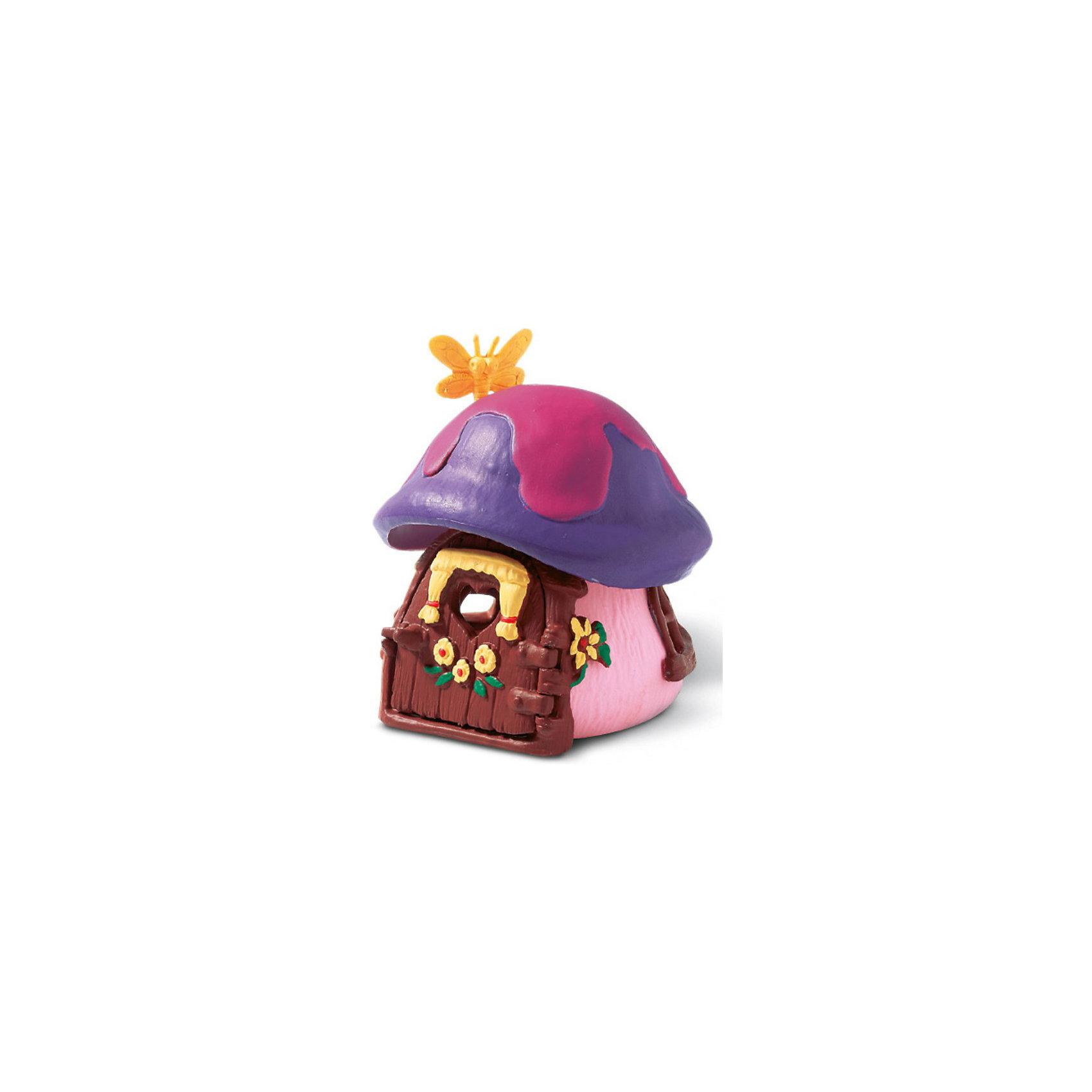 Дом Смурфетты, SchleichИгрушки<br>Дом Смурфетты, Schleich<br><br>Характеристики:<br><br>• Размер: 9,2 x 9,9 x 11,5 см<br>• Цвет: фиолетовый, розовый<br>• Материал: пластмасса (ПВХ)<br>• Возраст: от 3 до 8 лет<br><br>Маленький домик Смурфетты – это отличное дополнение в коллекцию. Качественный дом сделан из безопасных и надежных материалов. Красочный и яркий домик с открывающейся дверцей и небольшим окошком, расписан вручную. Краски не тускнеют и не осыпаются. Дети будут в восторге, играя с таким домиком.<br> <br>Дом Смурфетты, Schleich можно купить в нашем интернет-магазине.<br><br>Ширина мм: 125<br>Глубина мм: 121<br>Высота мм: 122<br>Вес г: 219<br>Возраст от месяцев: 36<br>Возраст до месяцев: 96<br>Пол: Унисекс<br>Возраст: Детский<br>SKU: 1600018